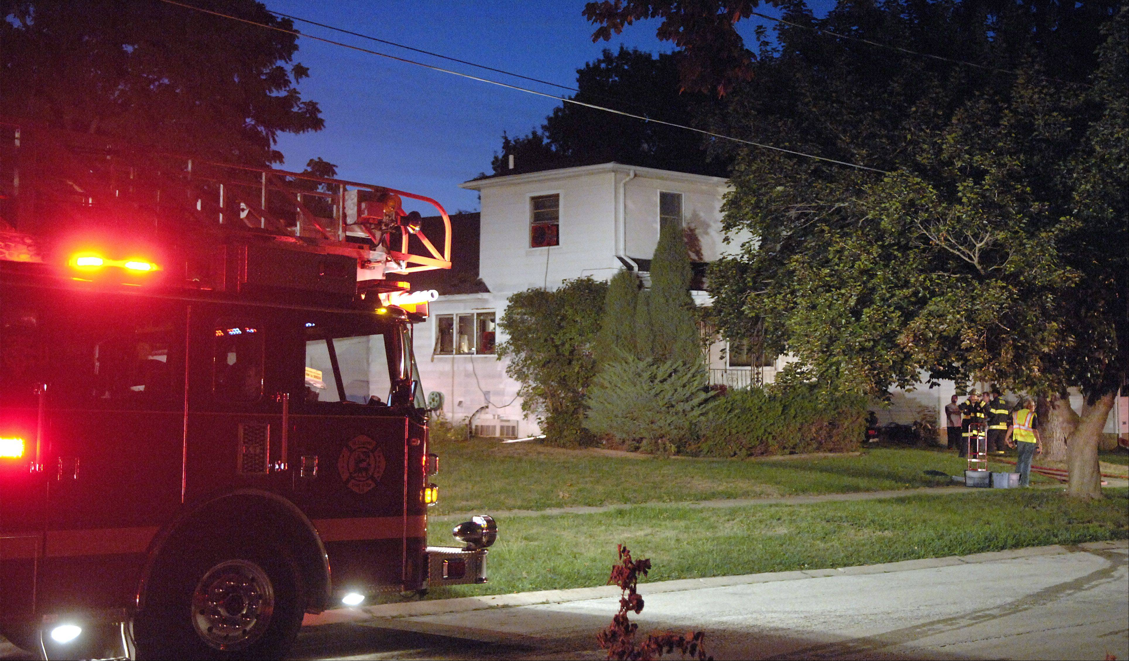 Several fire department units including St. Charles, Geneva, Batavia and South Elgin were called to the scene of a fire on the 0-100 block of North 12th Street in St. Charles Friday night. No injuries were reported, but the home was left uninhabitable.