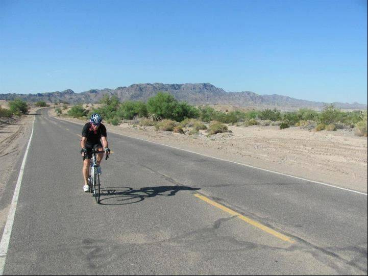 Jim Windass is close to the California-Arizona state line at this point.