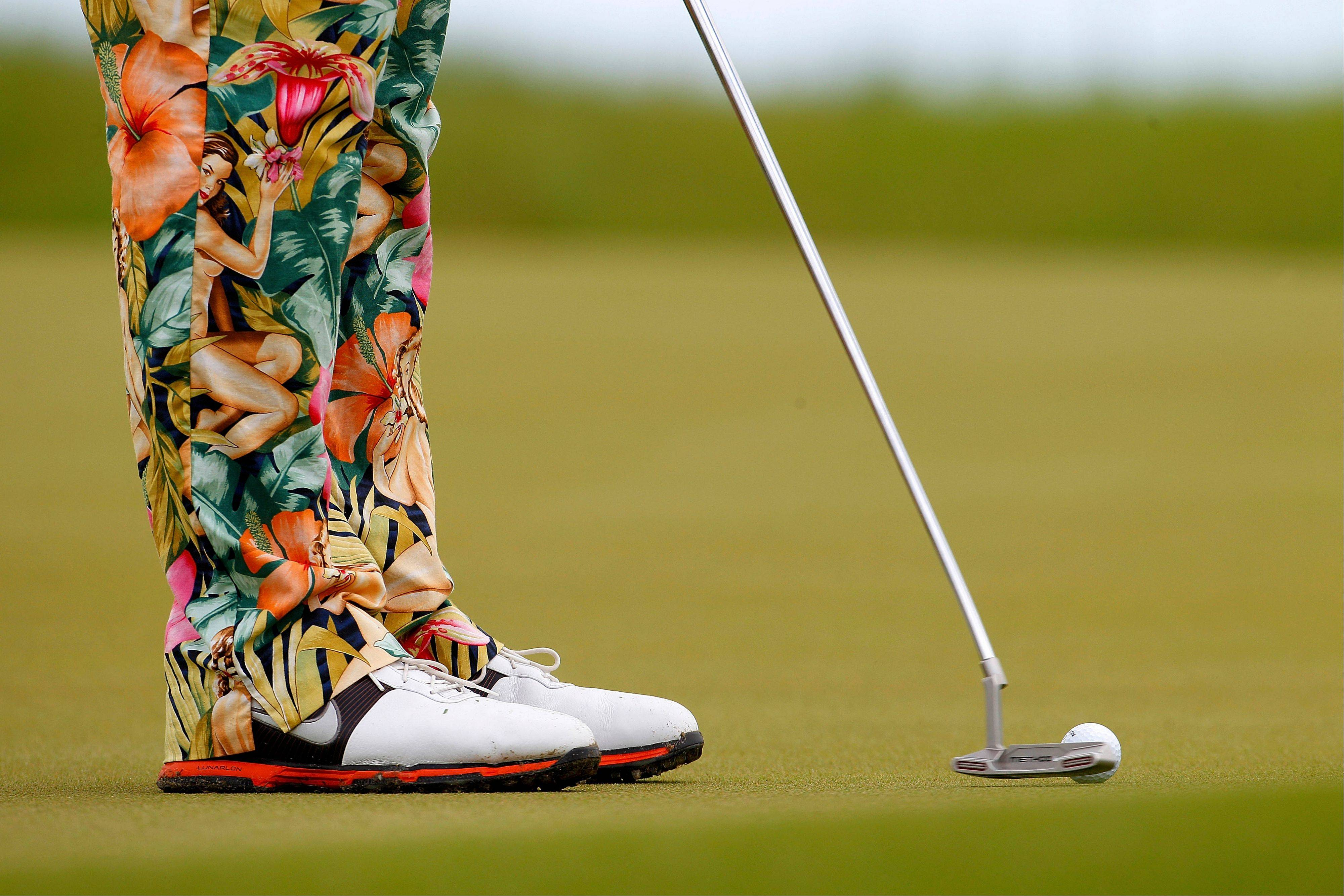 "Golfer John Daly has been making some loud ""fashion"" statements with his attire each day at the PGA Championships."