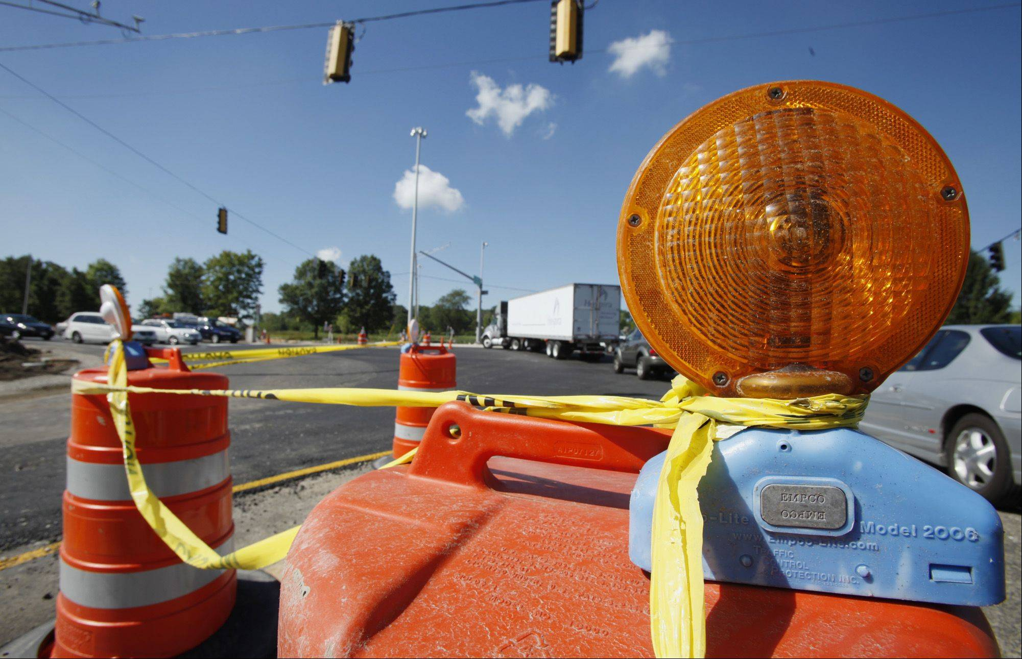 You might not like the sight of orange barrels as you drive around the suburbs during the summer, but this year�s extraordinarily dry weather has been a blessing for construction workers.