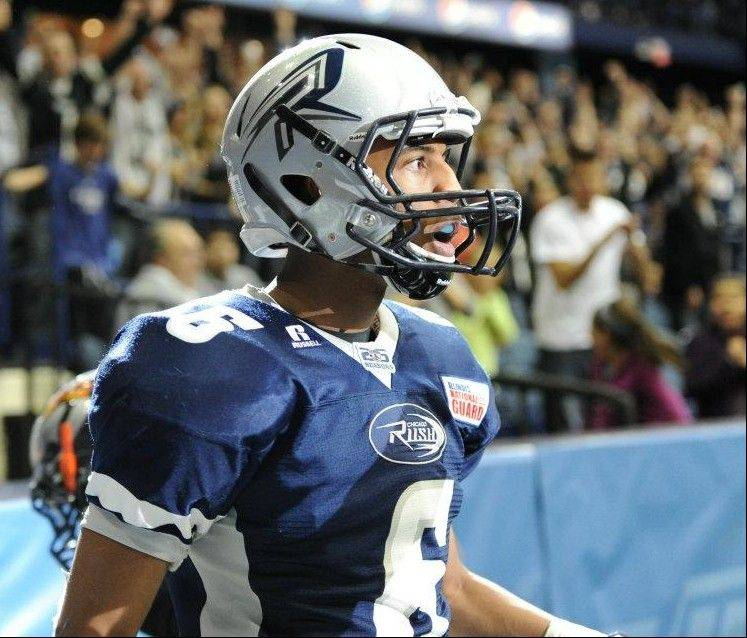 Jared Perry�s 133 receptions for the Chicago Rush this season earned him Rookie of the Years honors in the Arena Football League.