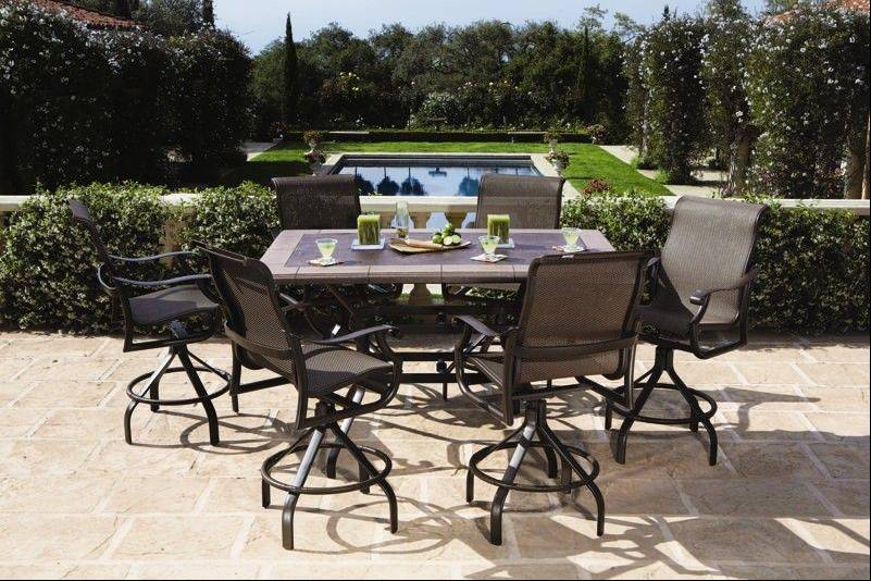 Taller table sets are ideal for those wanting better views over deck or balcony railings.