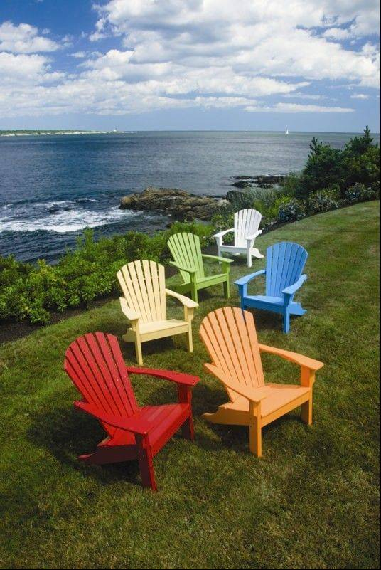 Seaside Casual uses a sturdy plastic made from recycled materials to make its Adirondack chairs.