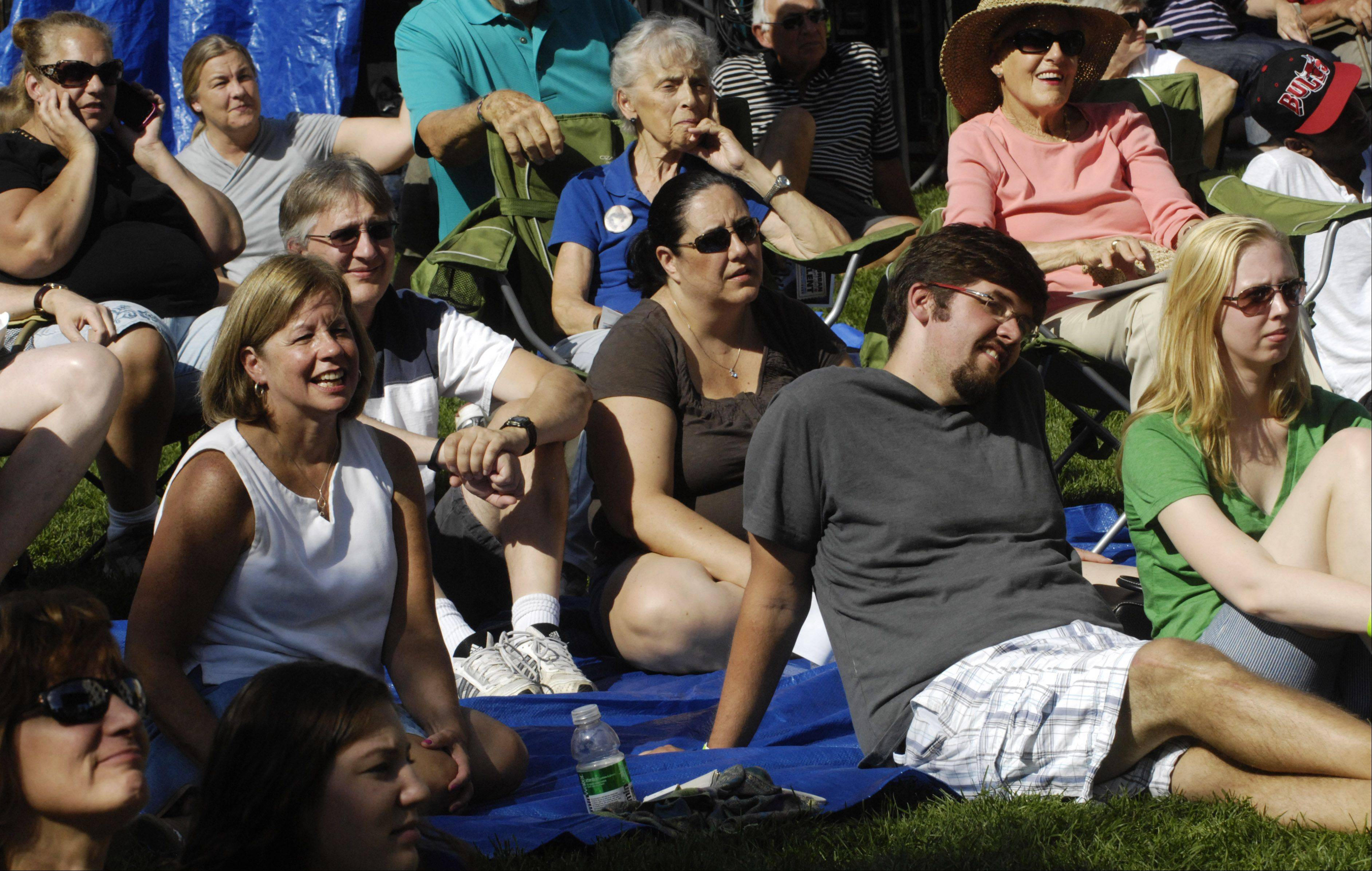 Audience members watch the Suburban Chicago's Got Talent finals Saturday at the Mane Event in downtown Arlington Heights.