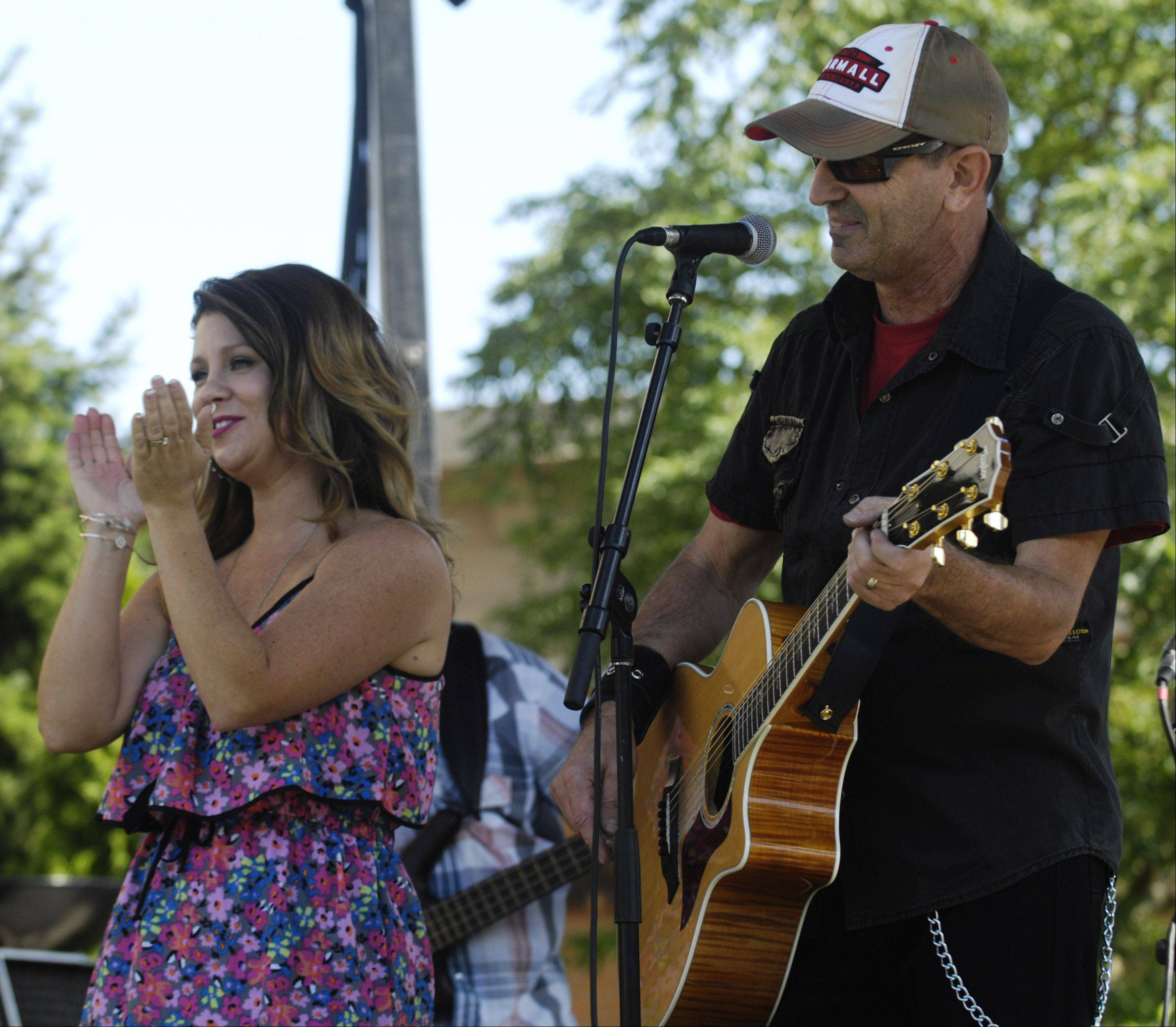 """Faith and Whisky"" with singer Camille Eiseman and guitarist/singer Terry Tank performs during the Suburban Chicago's Got Talent finals Saturday at the Mane Event in downtown Arlington Heights. Both are from Crystal Lake."