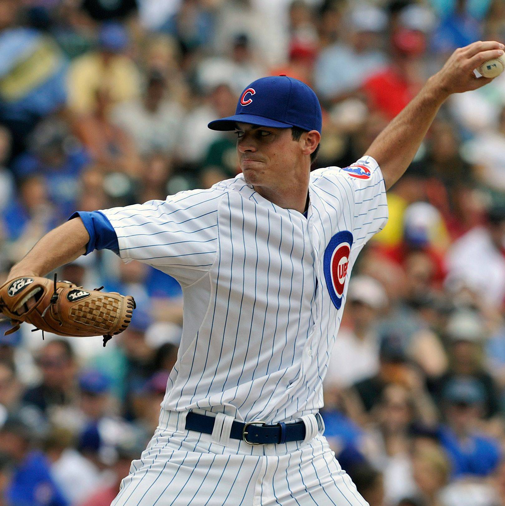Brooks Raley pitches against the Reds during the first inning of the Cubs' 3-0 loss Sunday at Wrigley Field.