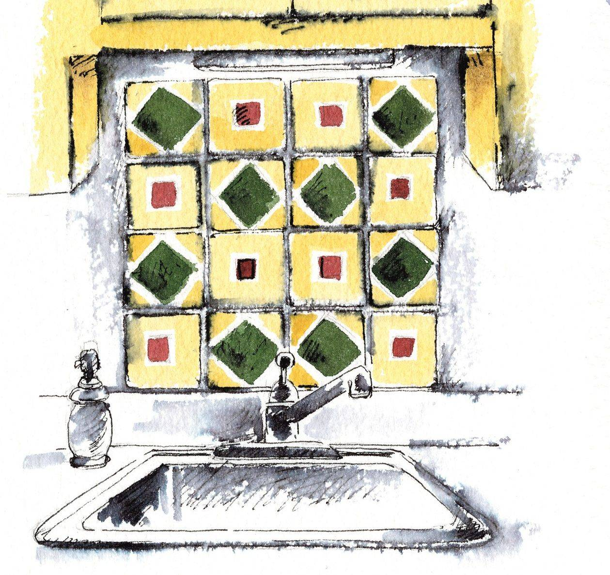 If you have installed vivid-colored tiles from your travels and droopy valances over your windows, it's  time for a change.   Washington Post illustration by Alla Dreyvitser.