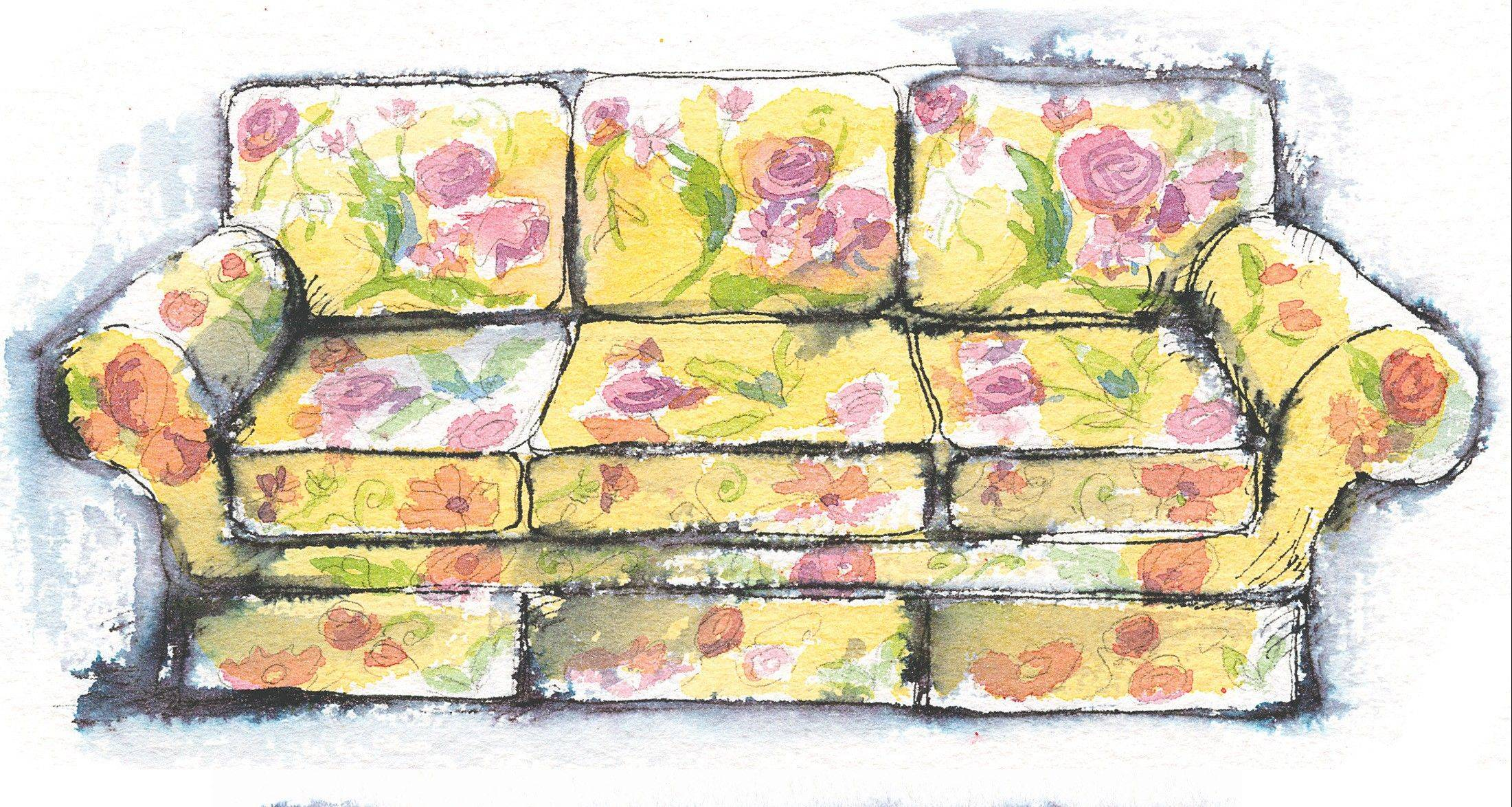 How bright and flowery should your sofa be? Not very.   Washington Post illustration by Alla Dreyvitser.