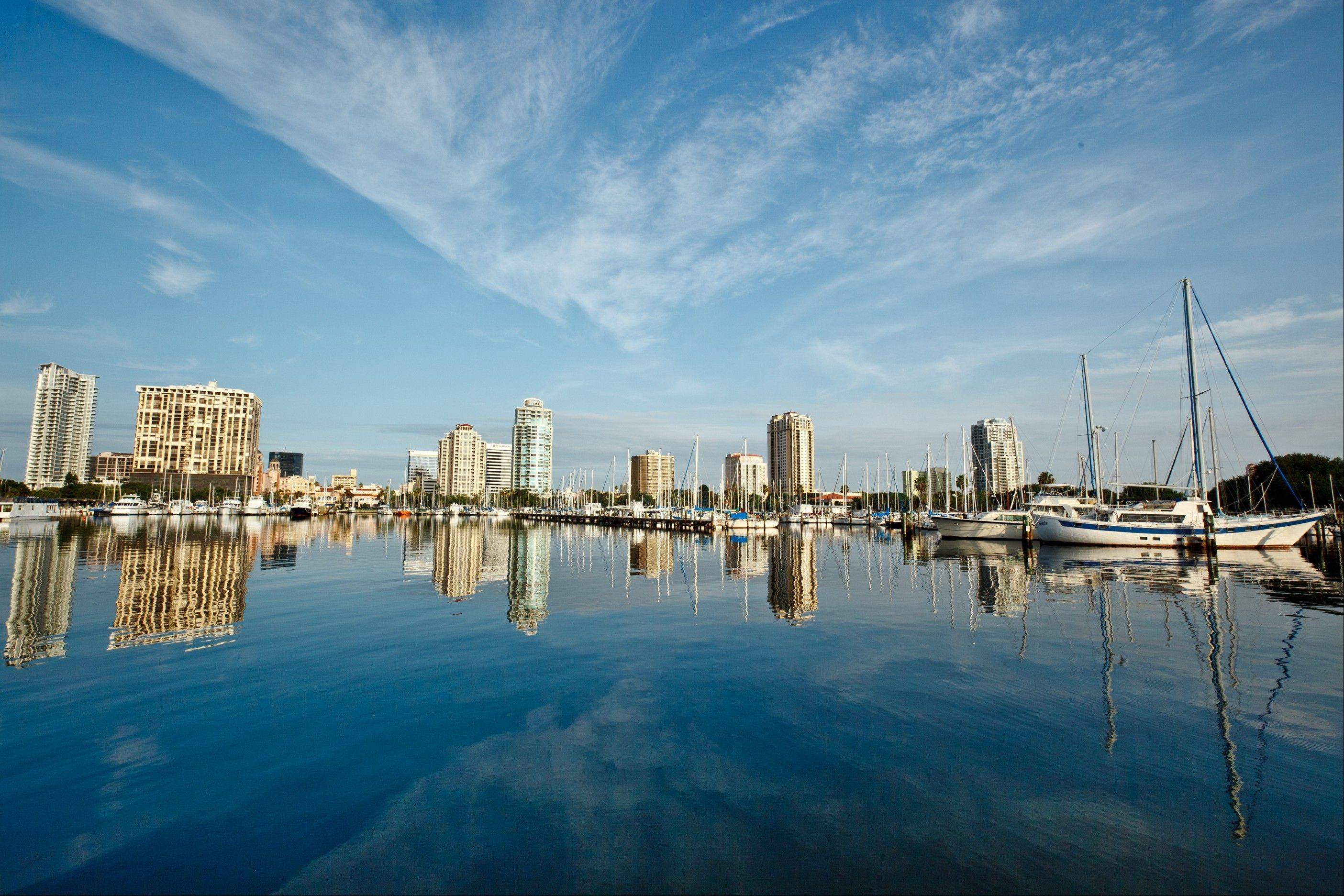 Visitors can enjoy the St. Petersburg skyline and waterfront.