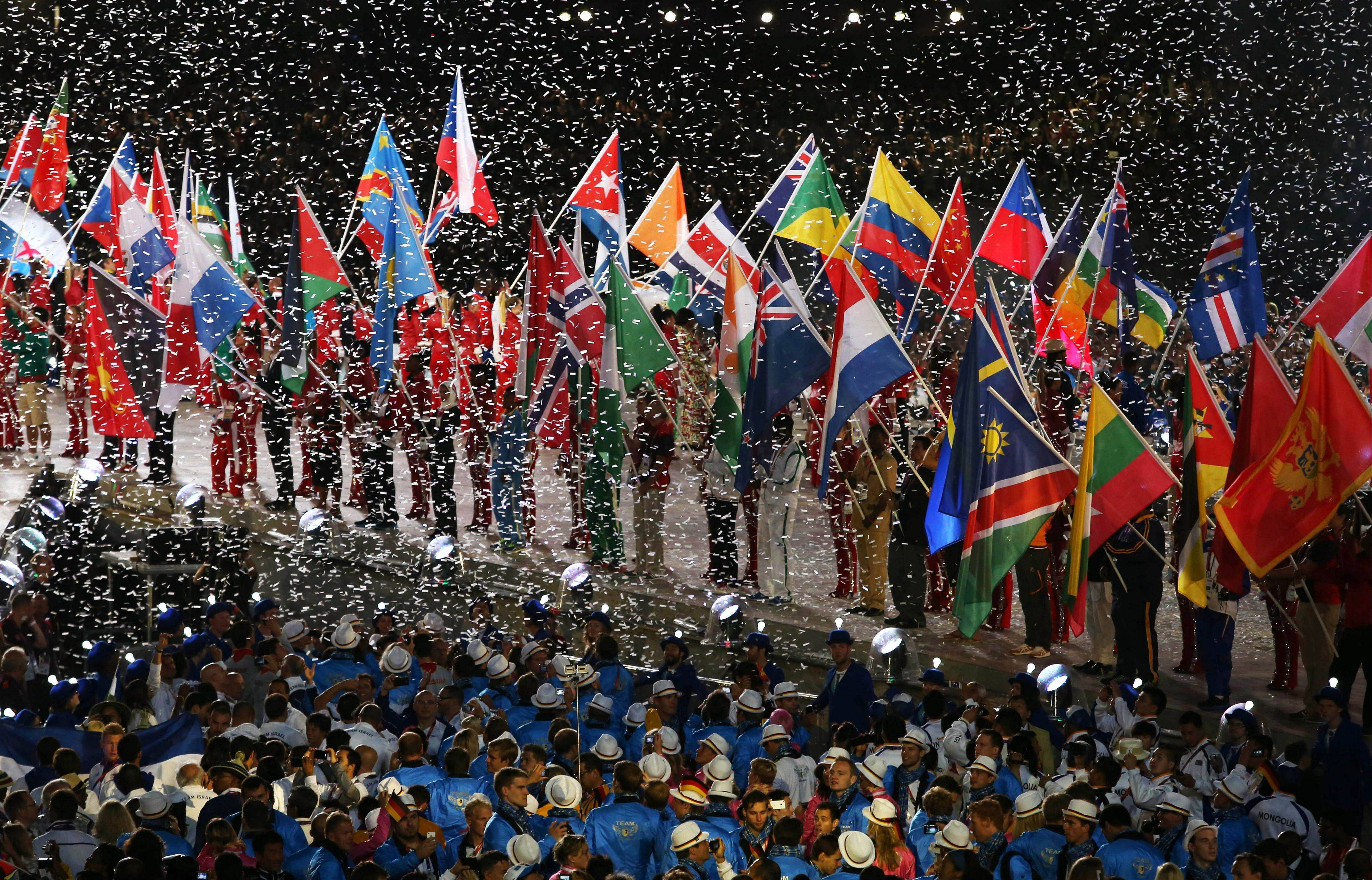 The Closing Ceremony at the 2012 Summer Olympics.