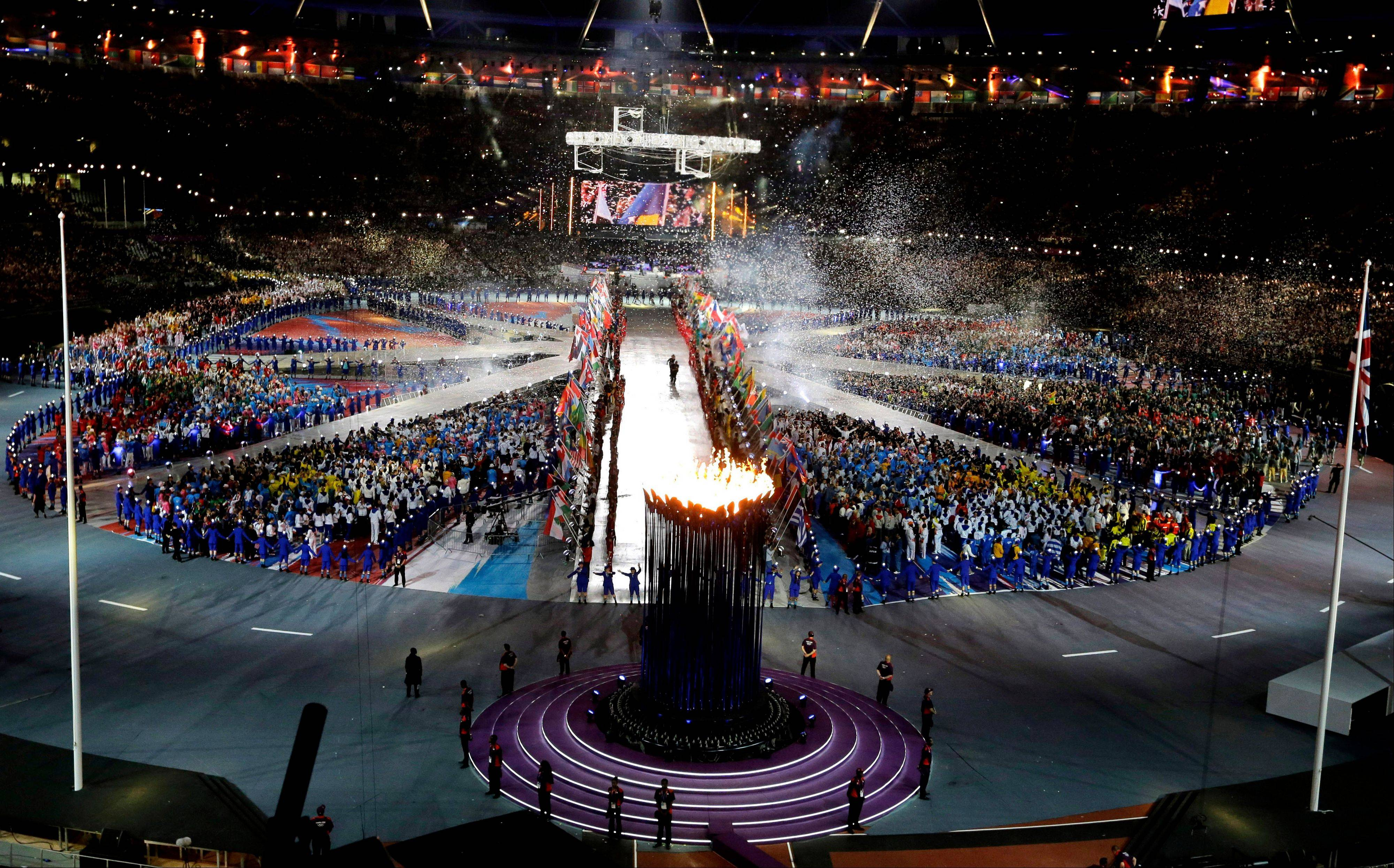 A general view of Olympic Stadium during the Closing Ceremony at the 2012 Summer Olympics.