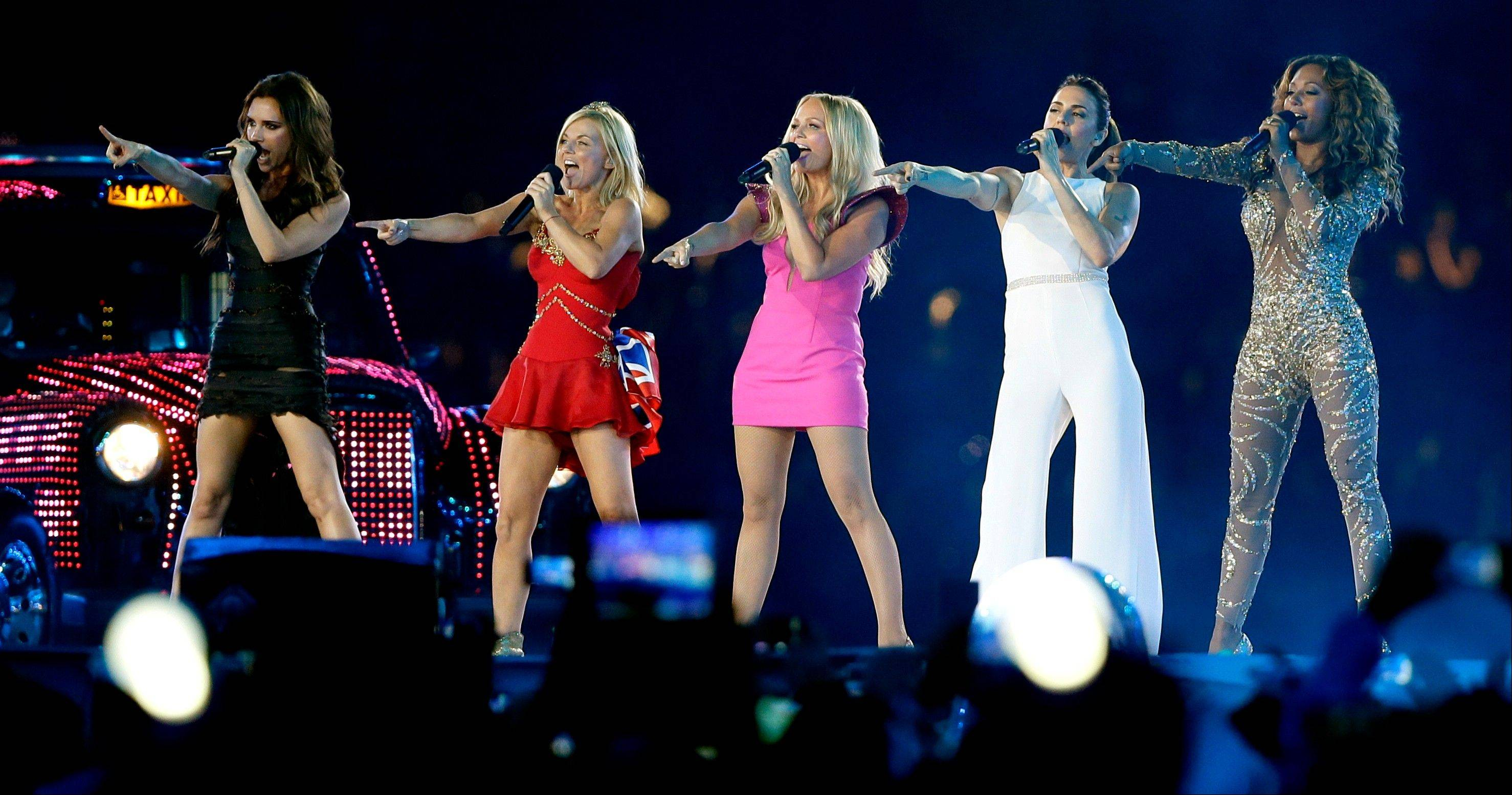 The Spice Girls perform during the Closing Ceremony at the 2012 Summer Olympics.
