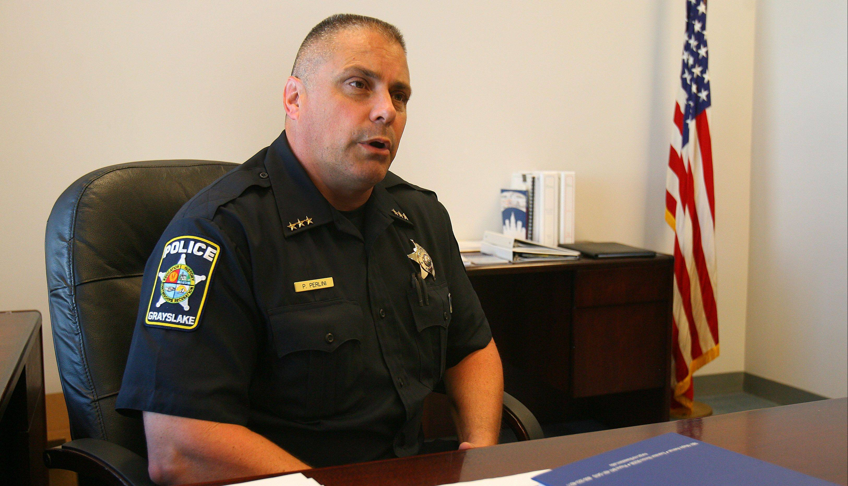 Phillip Perlini was sworn in last week as Grayslake's police chief.
