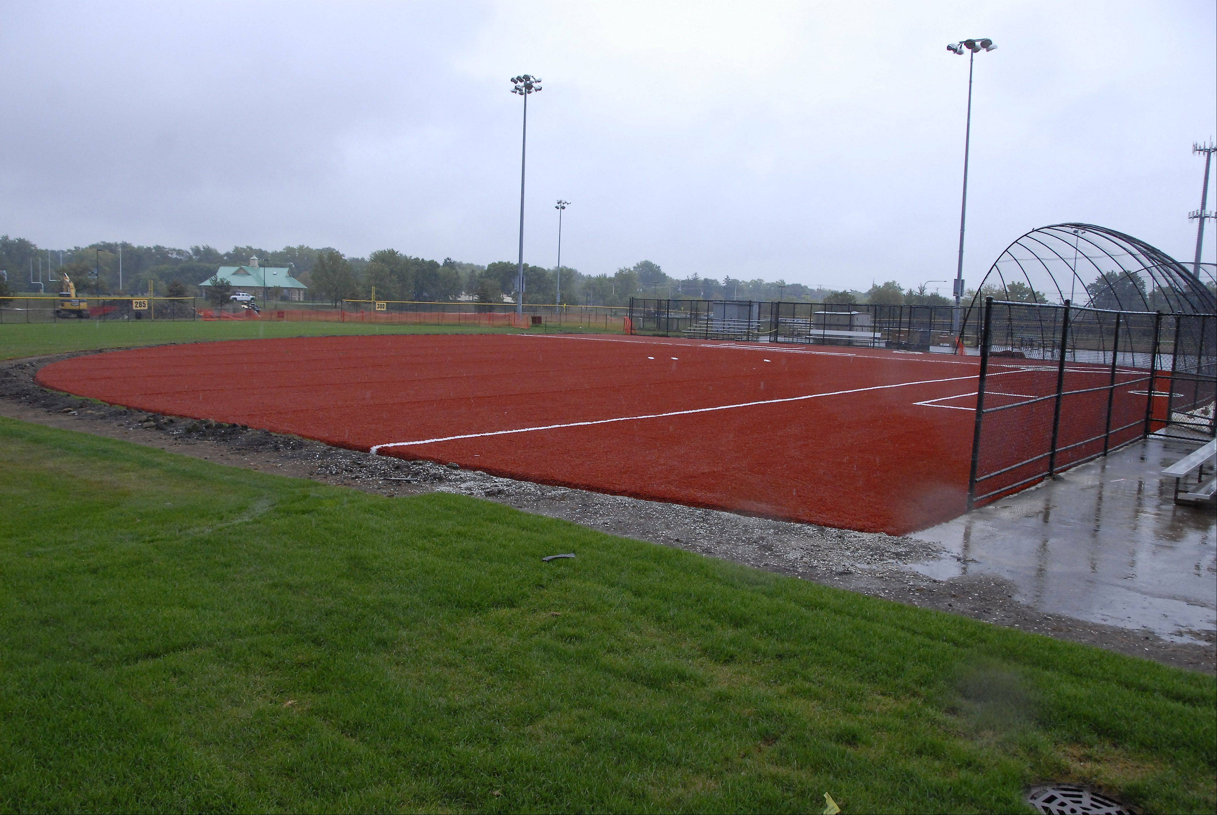 The Arlington Heights Park District has already installed new field turf on two of its four baseball and softball fields at Melas Park in Mount Prospect. Officials say the new turf will offer a safer playing surface while also reducing rainouts.
