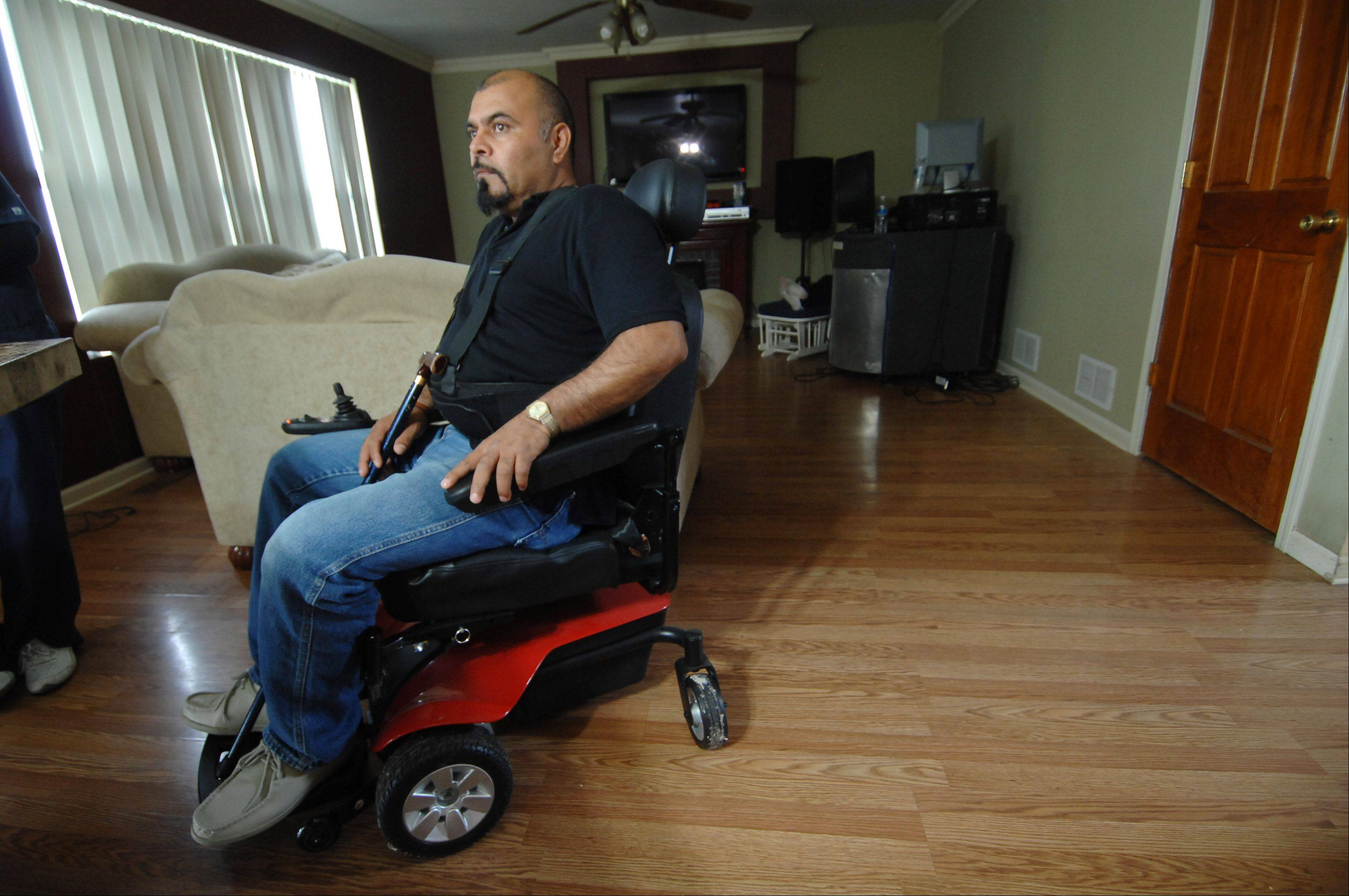 Because of several broken vertebrae and a shattered ankle, Francisco Valdez is unable to work and is losing the home he built with his own hands.
