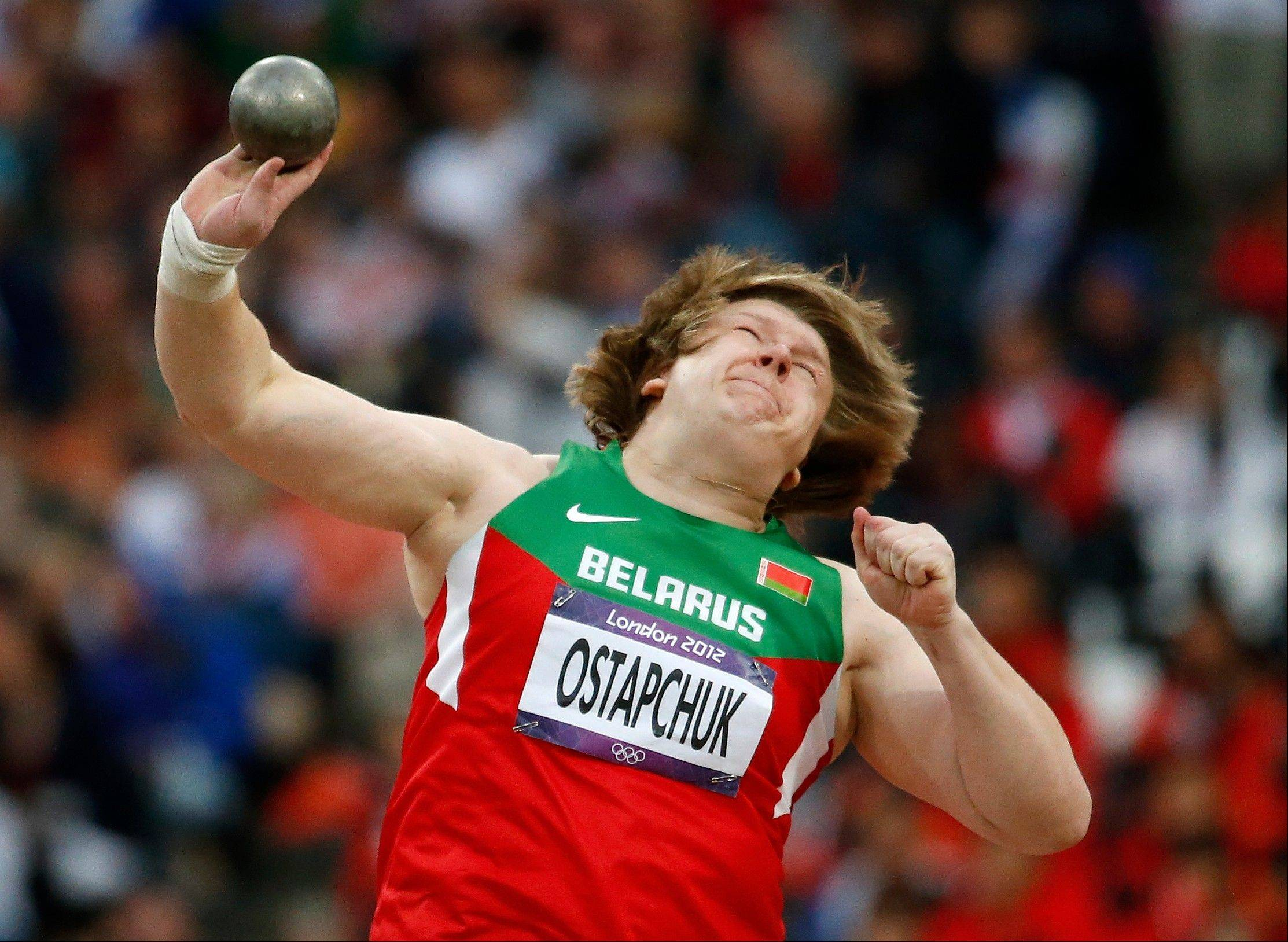 Belarus� Nadzeya Ostapchuk became the first athlete to be stripped of a medal at the London Olympics after her gold in the women�s shot put was withdrawn for doping. The International Olympic Committee said Monday that Ostapchuk tested positive for the steroid metenolone.
