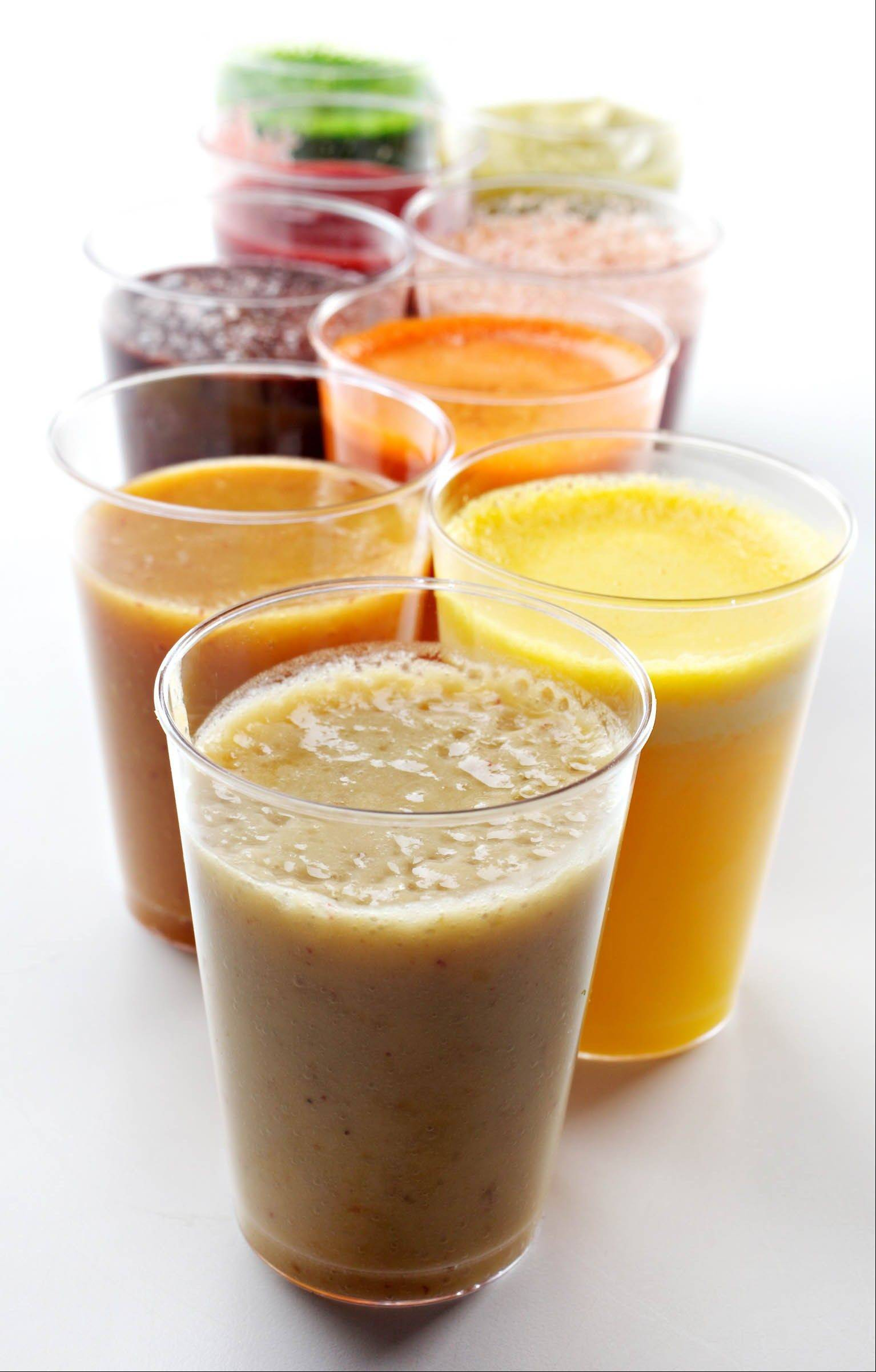Juicer or blender? Either way, a glass of fruits and vegetables is a good way to start the day -- and use up what you've got in the refrigerator.