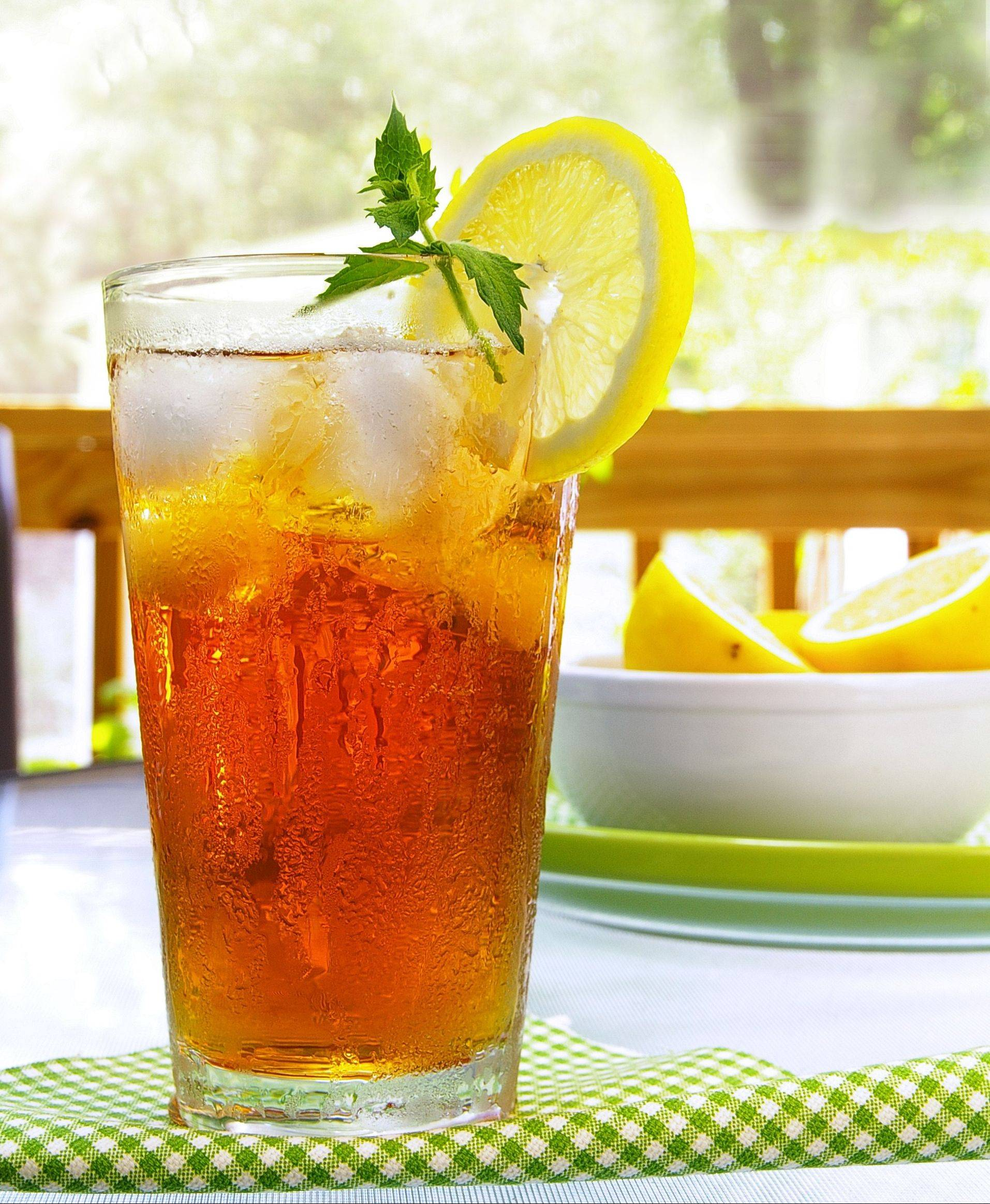 Drinking too much iced tea may increase your risk of developing kidney stones.