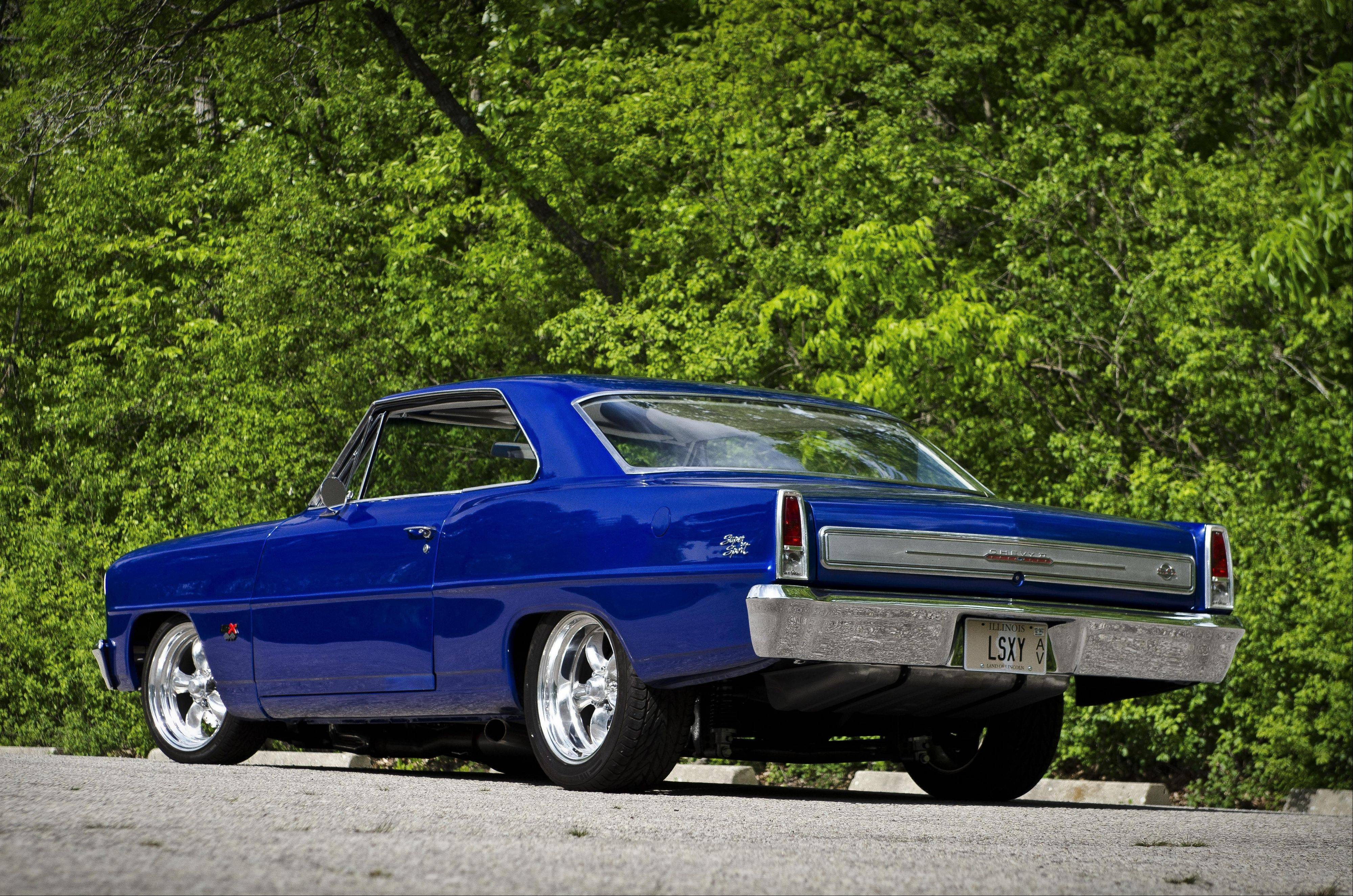 A new V-8 engine and beefed-up suspension make the Nova a high-performance car.