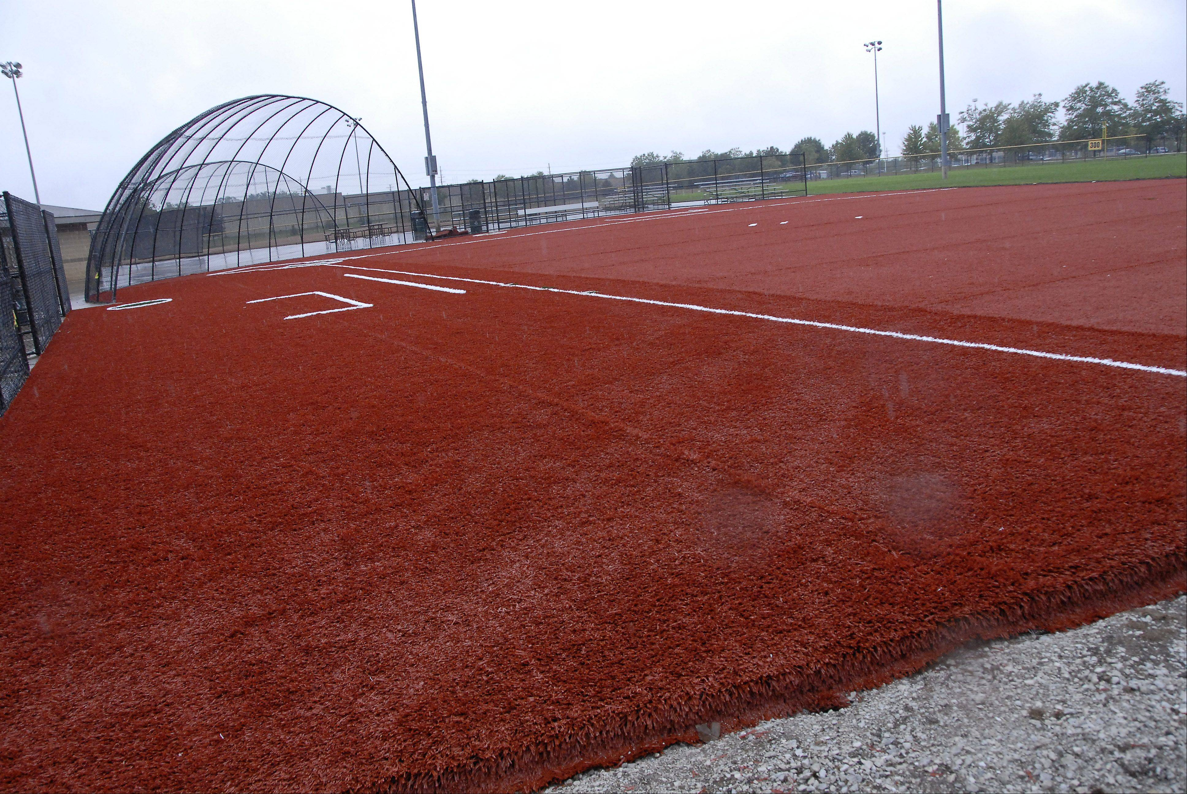 The Arlington Heights Park District has already installed new field turf on two s of its four baseball and softball fields at Melas Park in Mount Prospect. Officials say the new turf will offer a safer playing surface while also reducing rainouts.