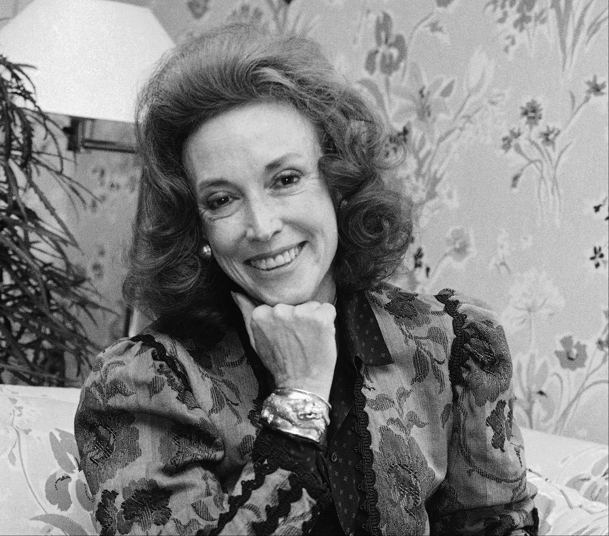 This Sept. 20, 2982 file photo shows Cosmopolitan editor Helen Gurley Brown is shown during an interview at her office in New York. Brown, longtime editor of Cosmopolitan magazine, died Monday, Aug. 13, 2012 at a hospital in New York after a brief hospitalization. She was 90.