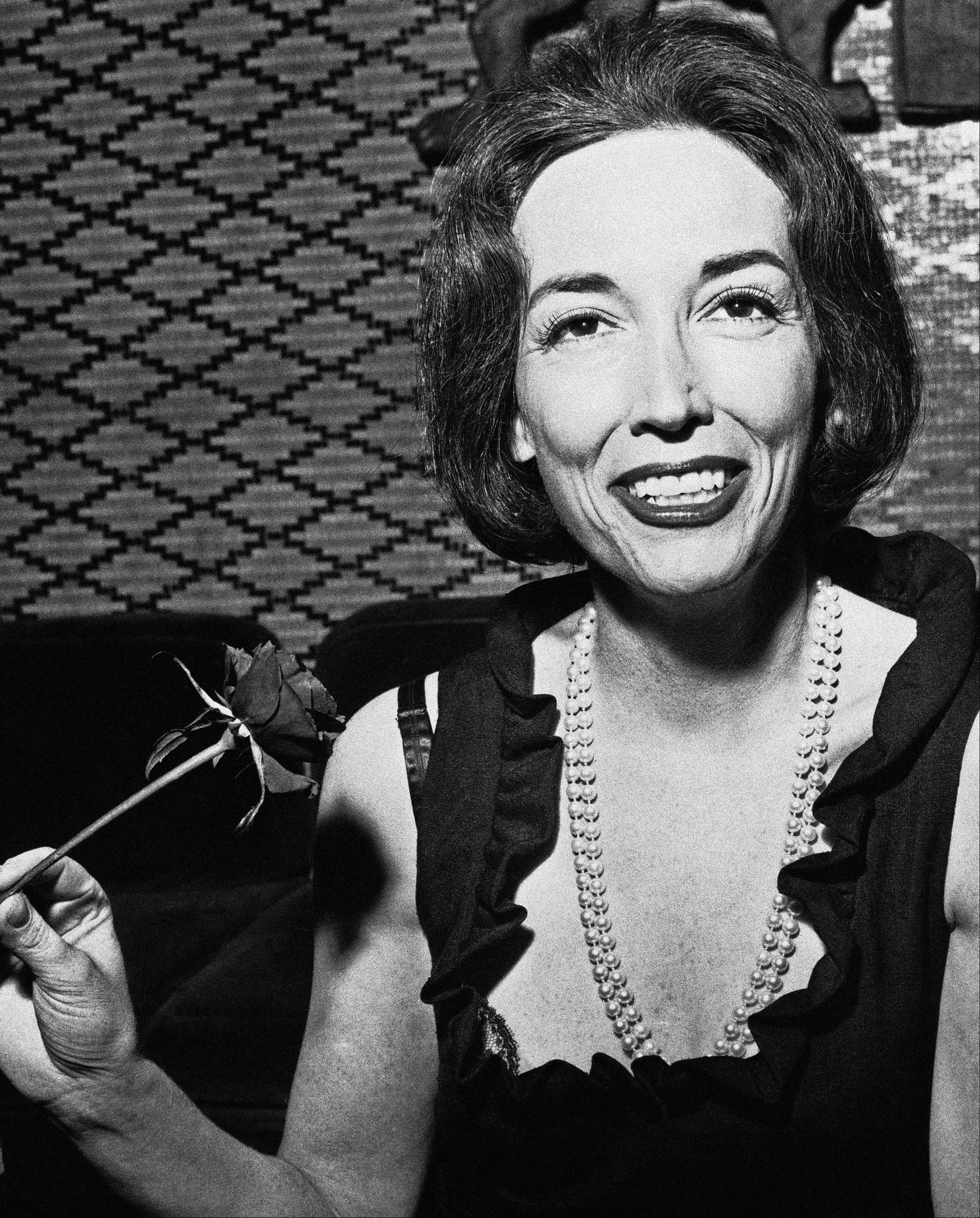 This Nov. 2, 1964 file photo shows author Helen Gurley Brown. Brown, longtime editor of Cosmopolitan magazine, died Monday, Aug. 13, 2012 at a hospital in New York after a brief hospitalization. She was 90.