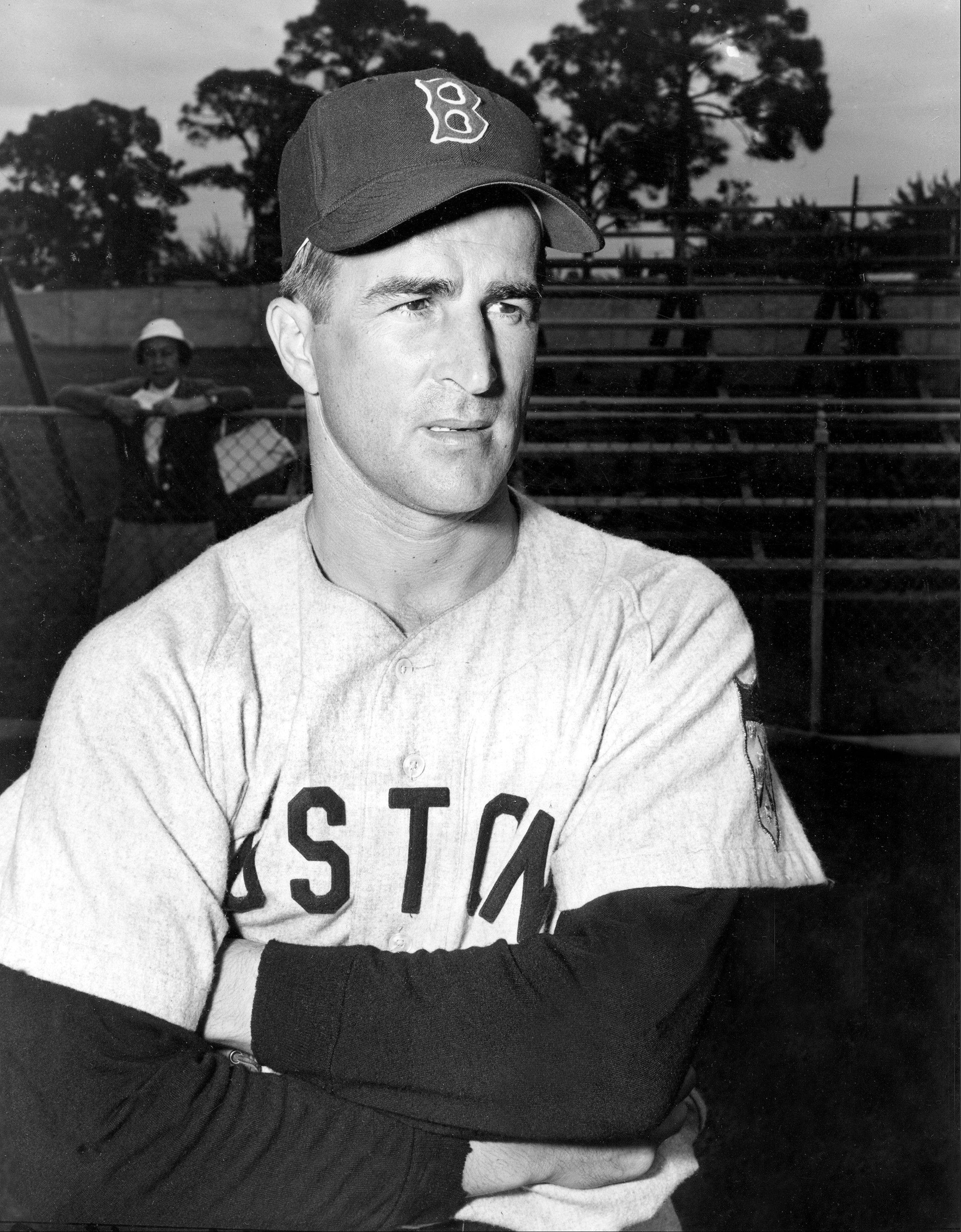 This Feb. 26, 1952, file photo shows Boston Red Sox infielder Johnny Pesky during baseball spring training in Sarasota, Fla. Pesky, who spent most of his 60-plus years in pro baseball with the Red Sox and was beloved by the team's fans, has died on Monday, Aug. 13, 2012, in Danvers, Mass. He was 92.