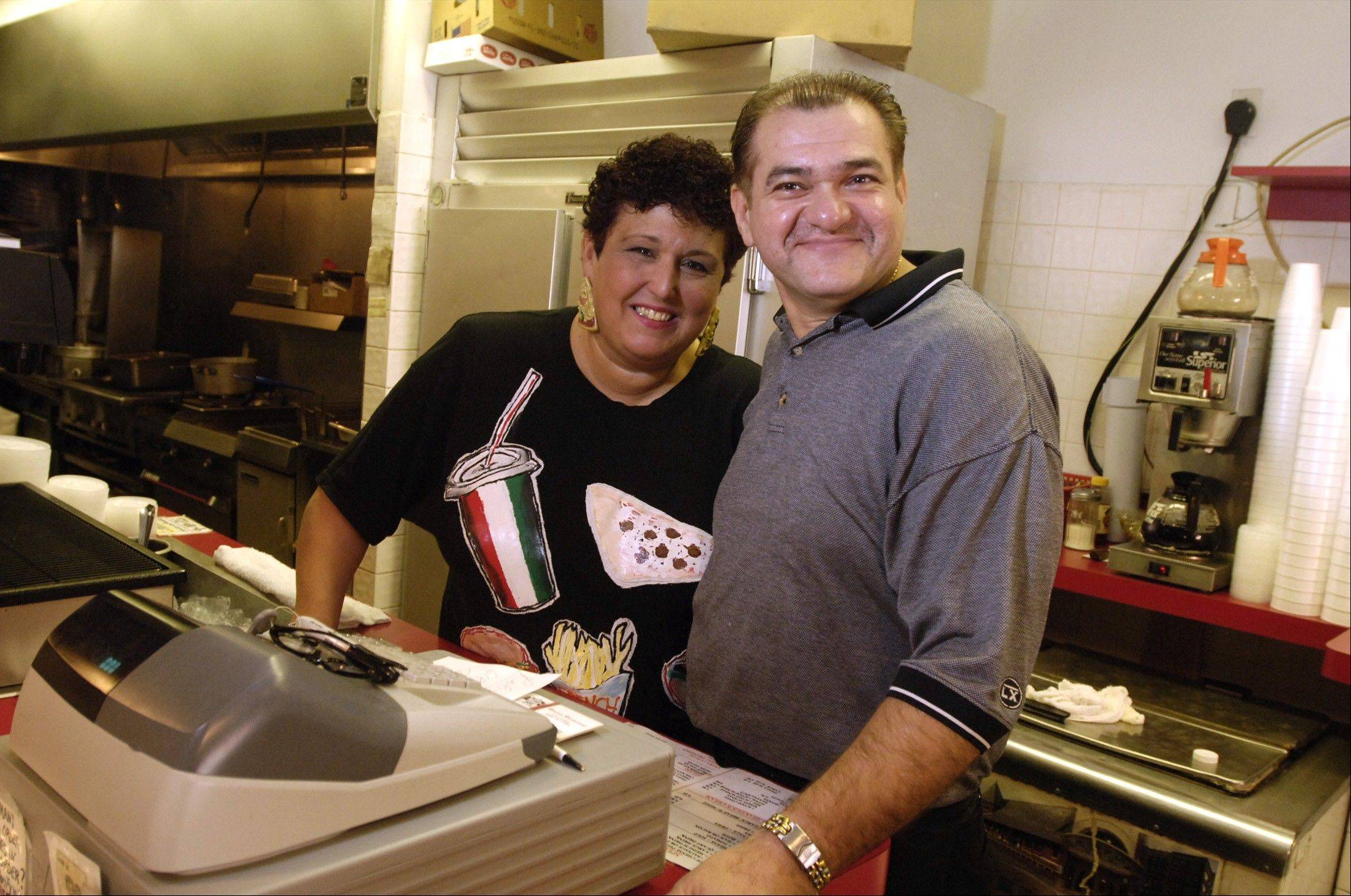 Andrea and Bobby Tsambarlis, founded the Riviera Restaurant in downtown Arlington Heights. Now, the restaurant�s latest owner is relaunching it as Campbell Street Hot Dogs �N� More, hearkening back to his earlier restaurant experience.