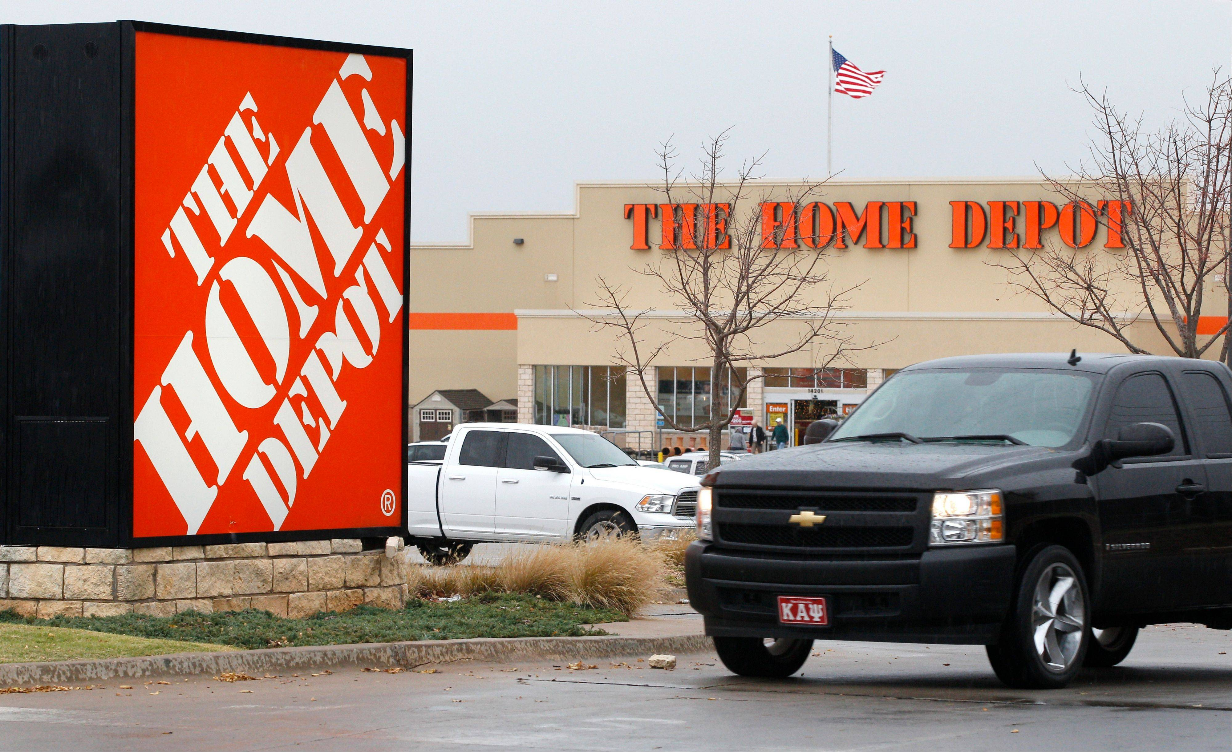 Better sales in the U.S. and healthy demand for its mainstay home-improvement products helped Home Depot�s net income rise 13 percent in its fiscal second quarter.