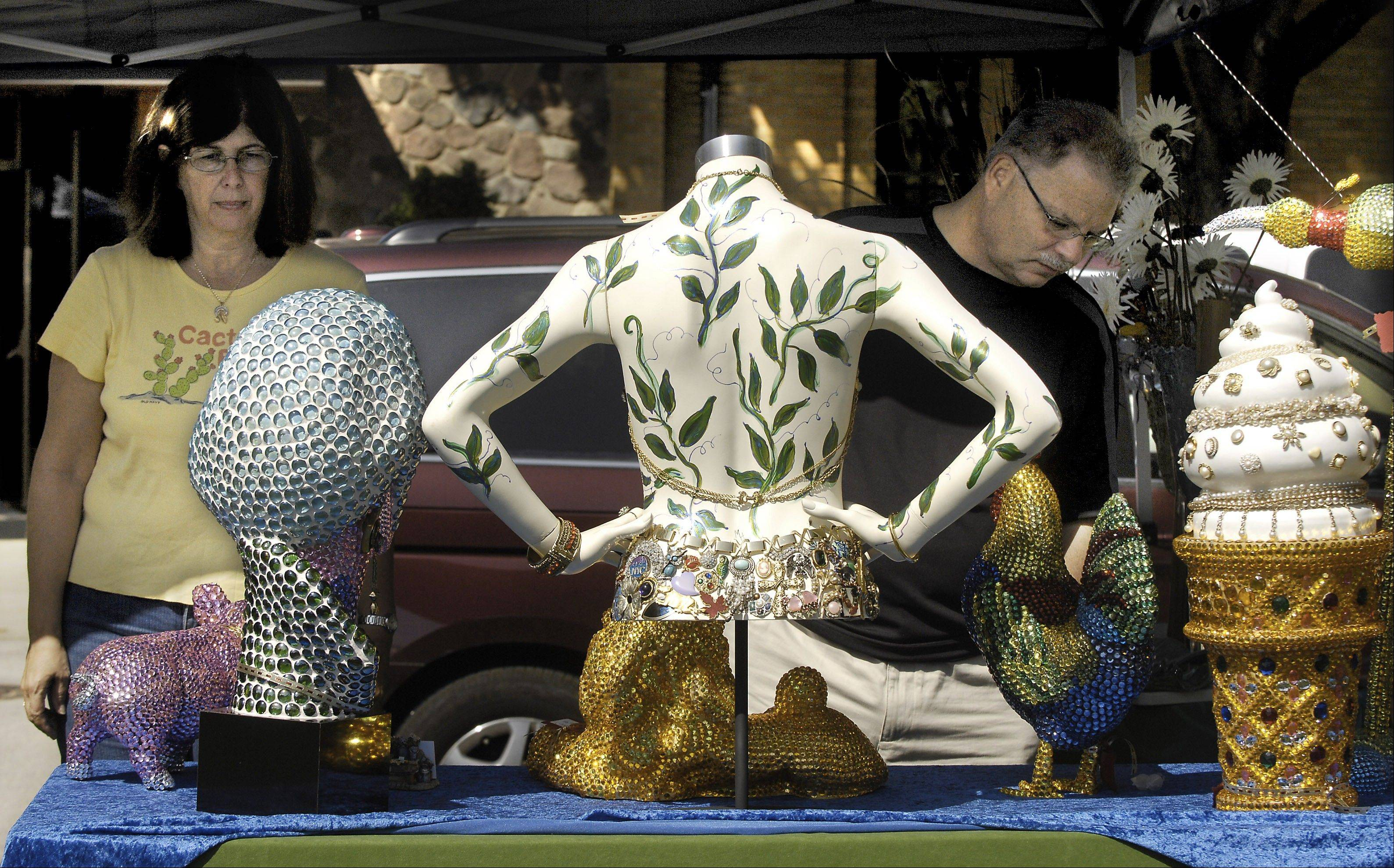 You never know what you might find, like these ceramic and mosaic pieces featured at a previous year�s fair.