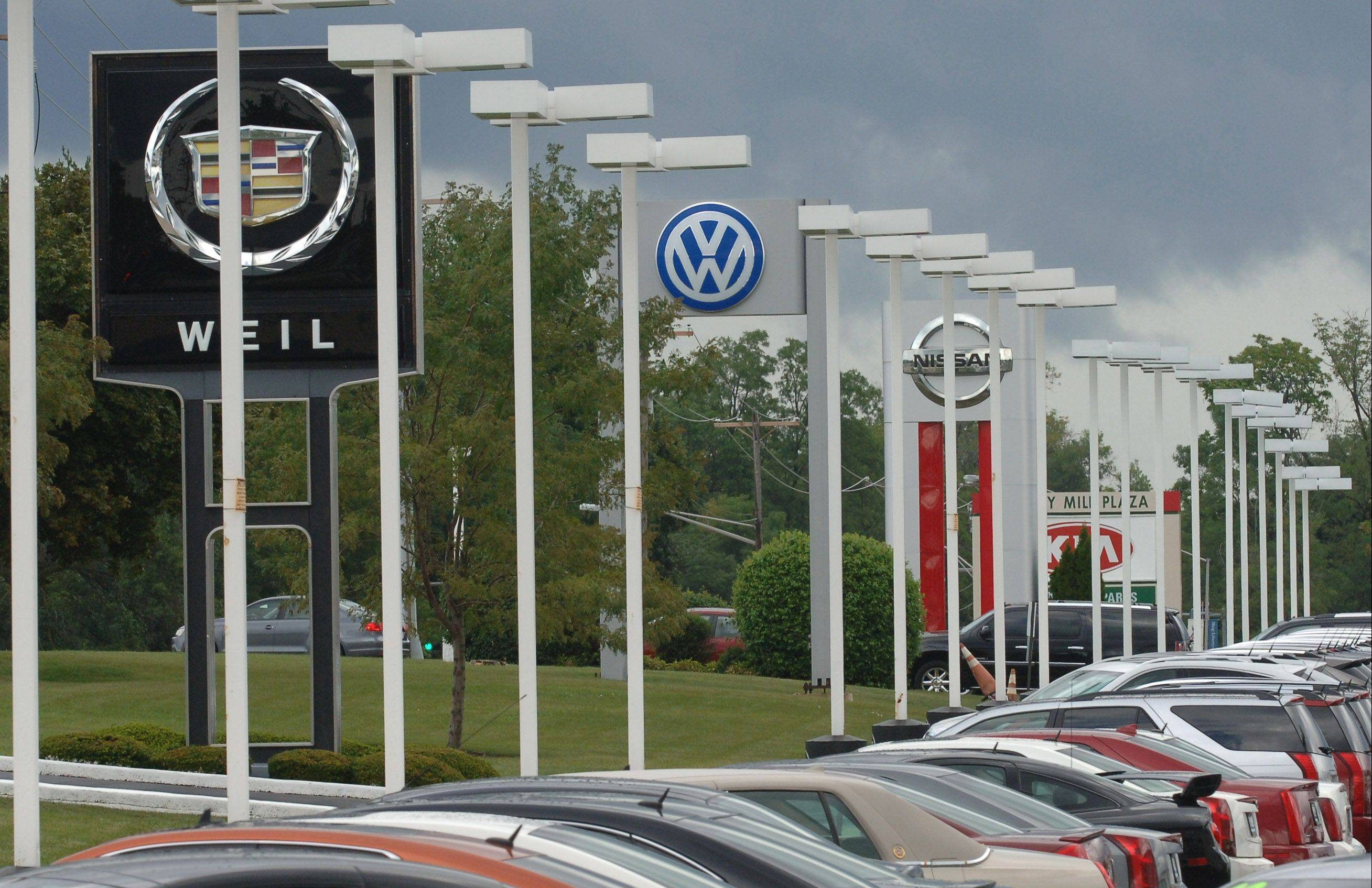Several auto dealerships in Libertyville have made or plan to make improvements to their facilities.