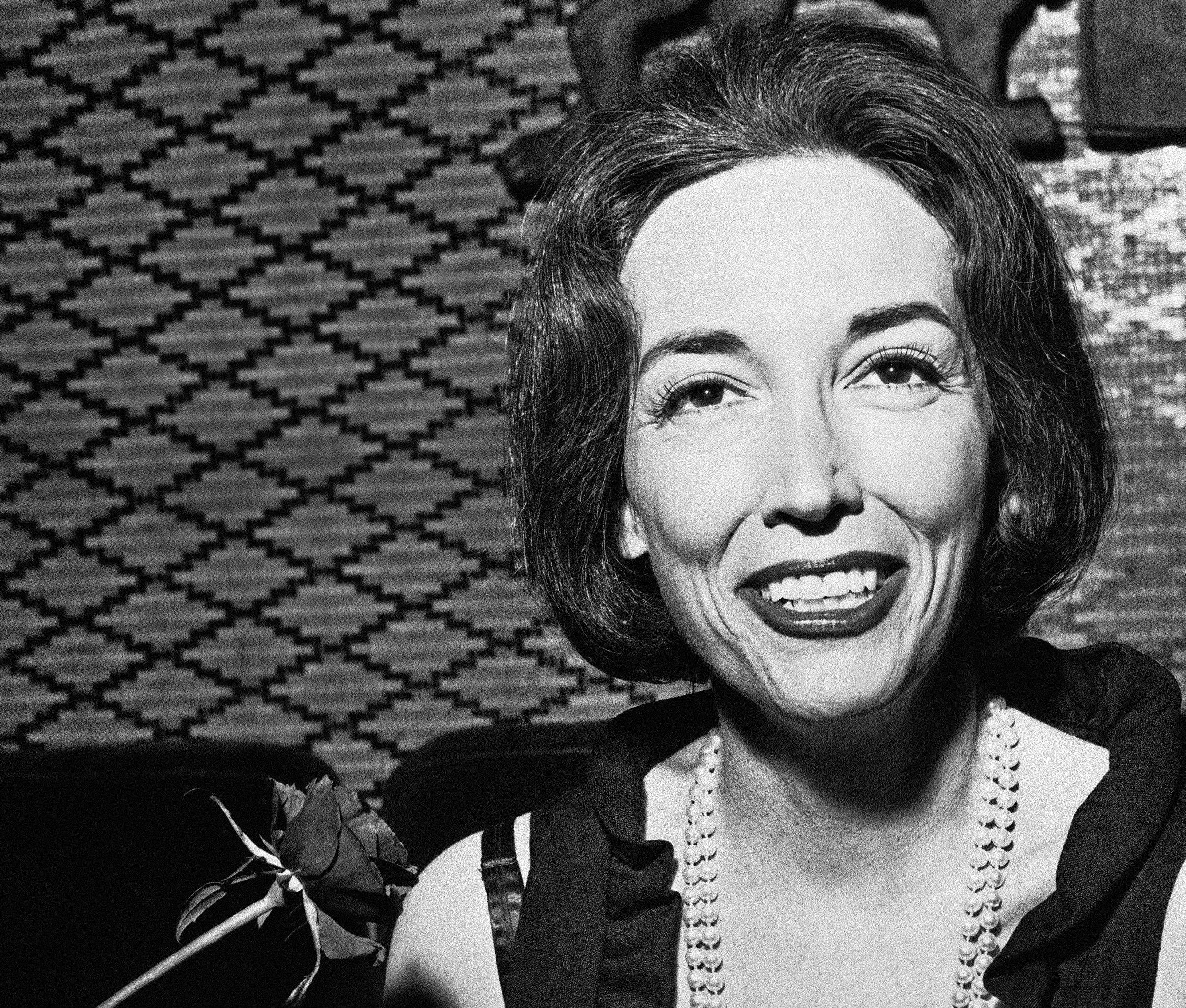 This 1964 file photo shows author Helen Gurley Brown. Brown, longtime editor of Cosmopolitan magazine, died Monday, Aug. 13, 2012 at a hospital in New York after a brief hospitalization. She was 90.