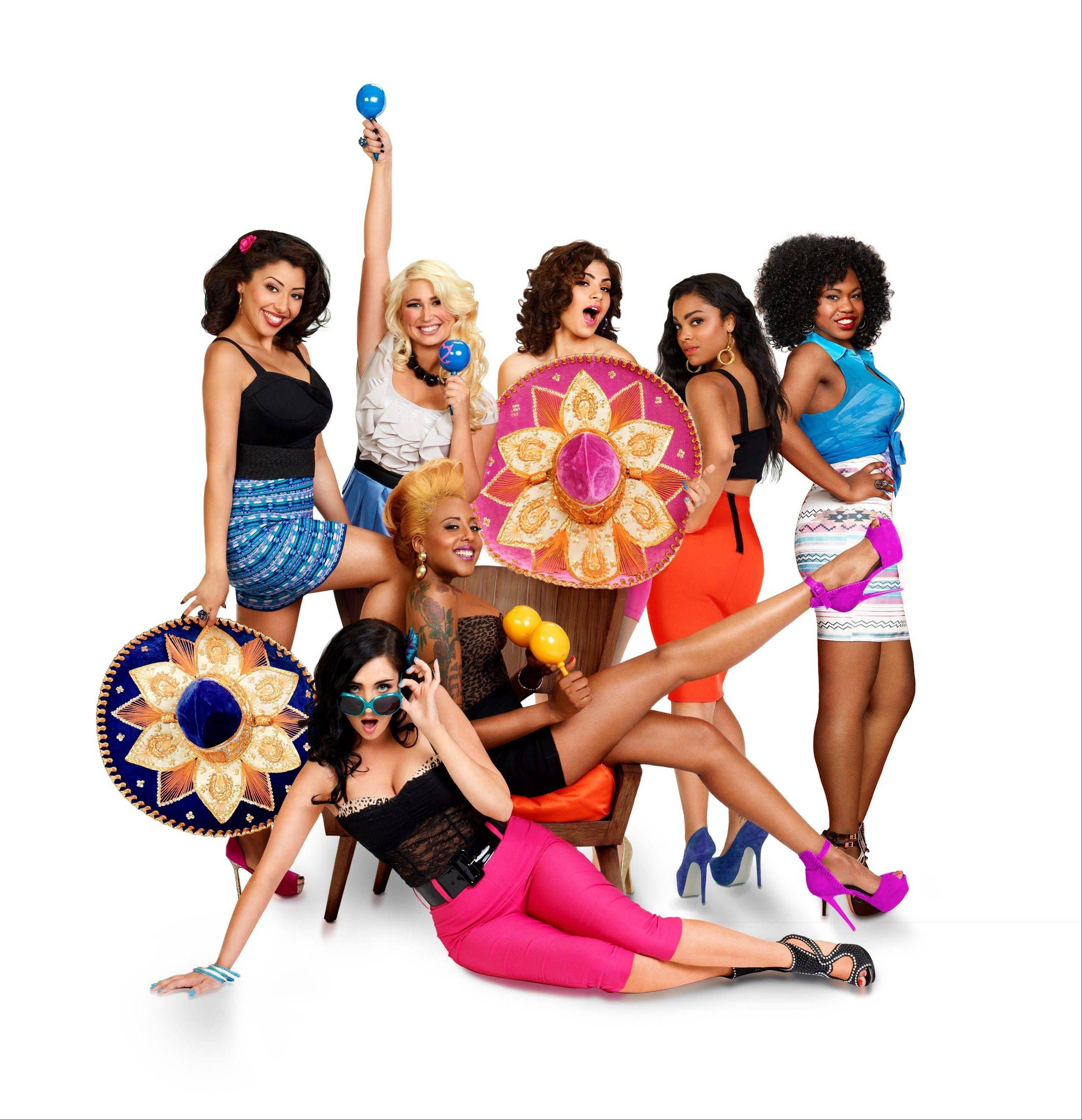 "Ashley Dye, 22, of Bartlett, second from left, is on the current cast of ""Bad Girls Club Mexico,"" on Oxygen."