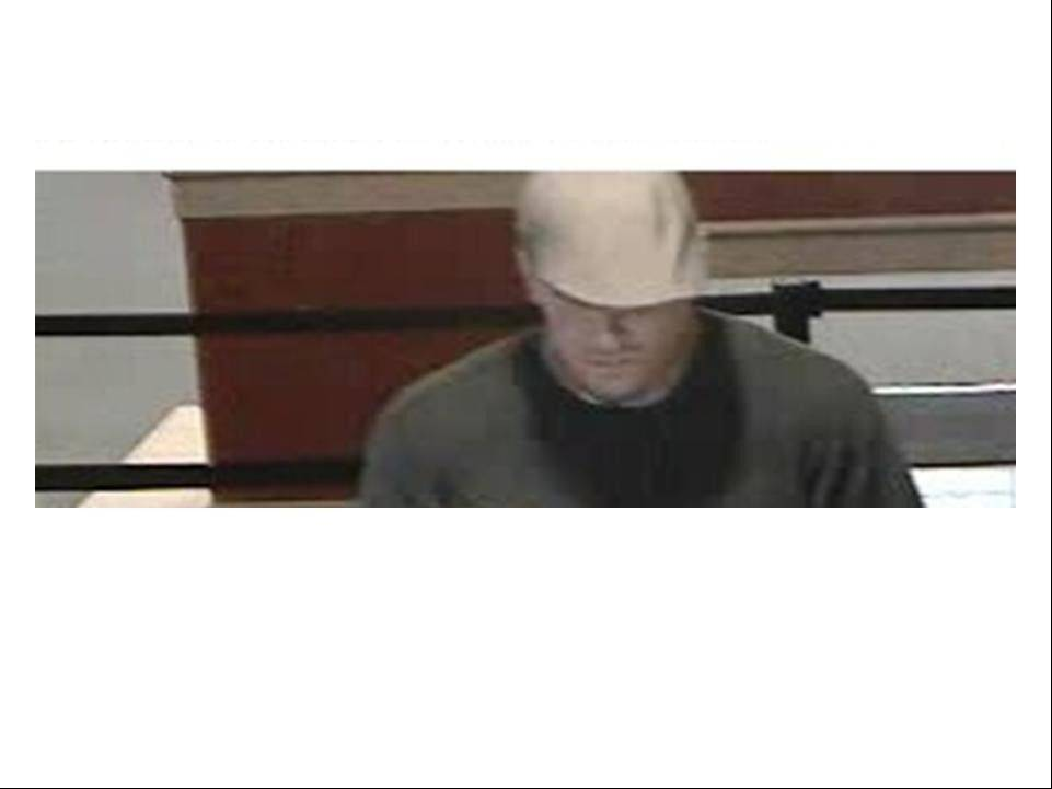 Authorities say this man robbed a West Chicago bank on Tuesday.