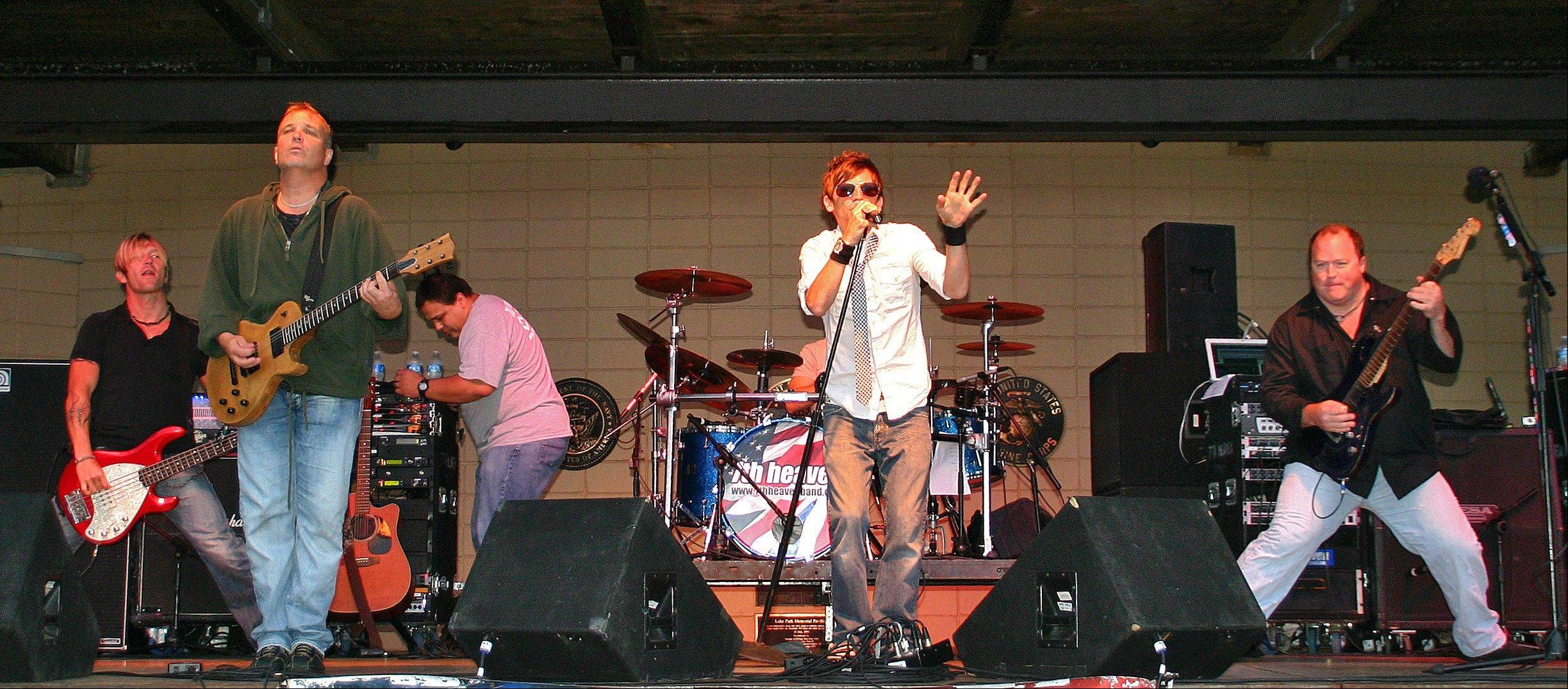 The band 7th heaven will play at 9:30 p.m. Friday at South Elgin's Riverfest Express.