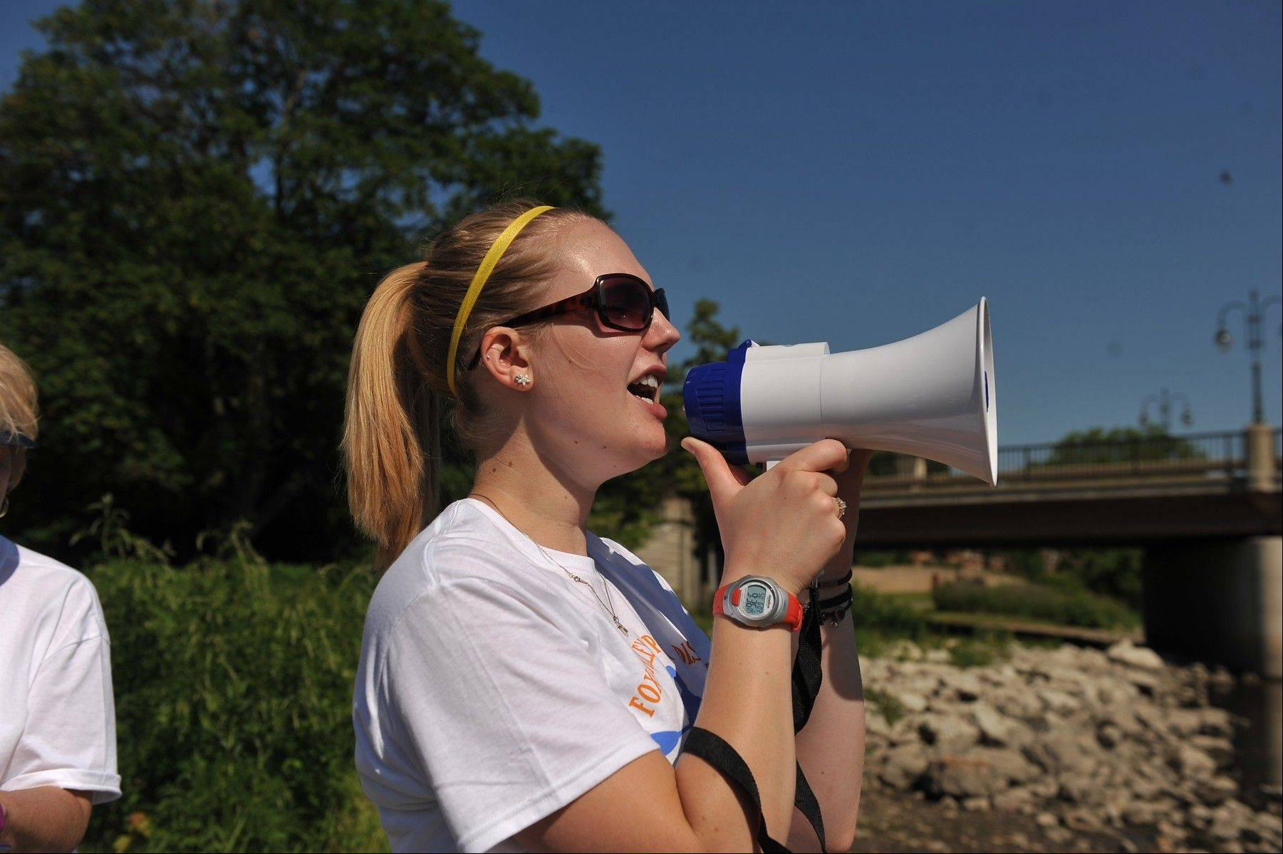 College student Kristina Vann worked in several different capacities as the summer marketing assistant at the Fox Valley Park District, including her role as starter at the Mid-American Canoe and Kayak Race this past June.