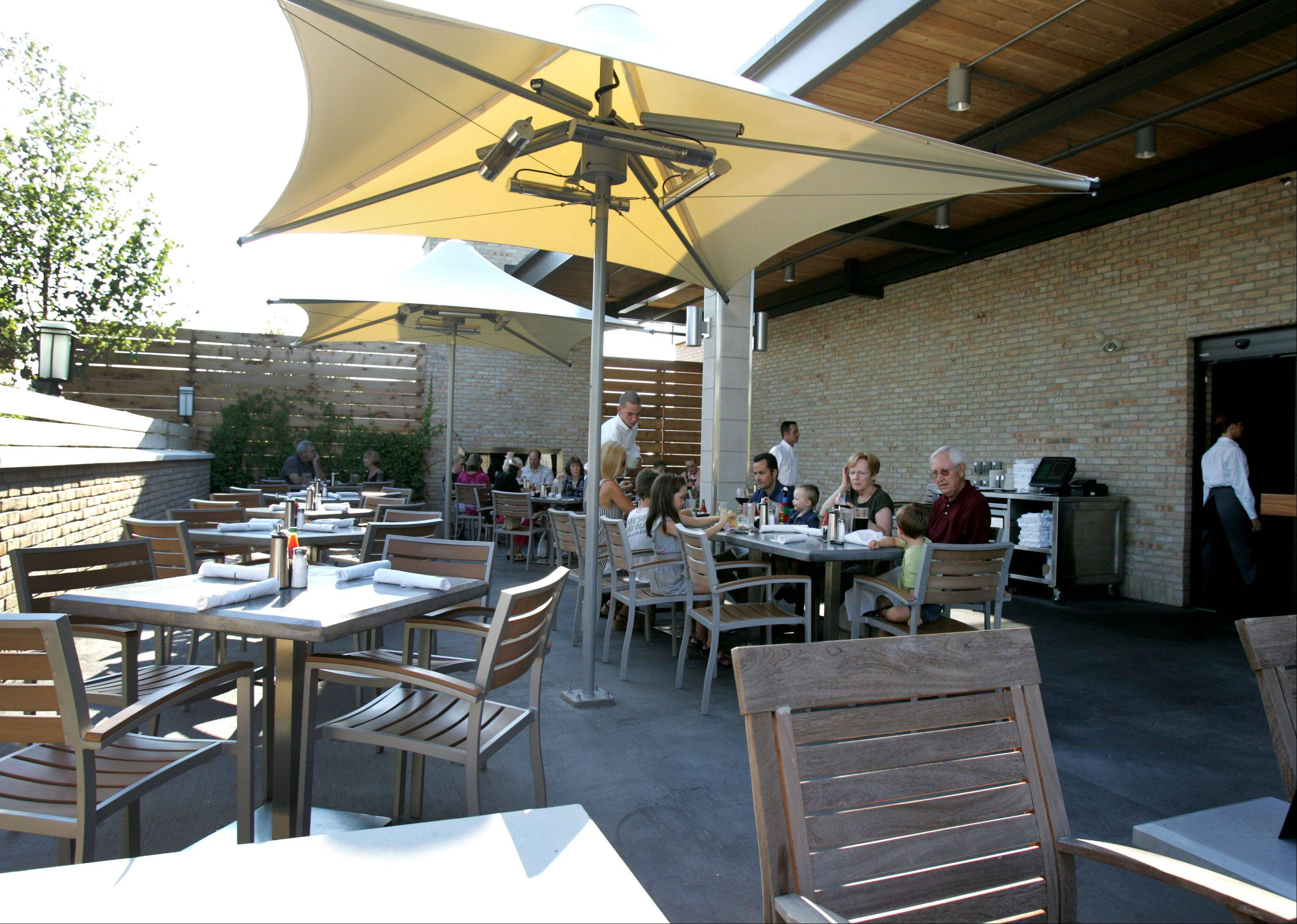 Al fresco dining is available on an enclosed patio at Bakersfield Restaurant in Westmont.