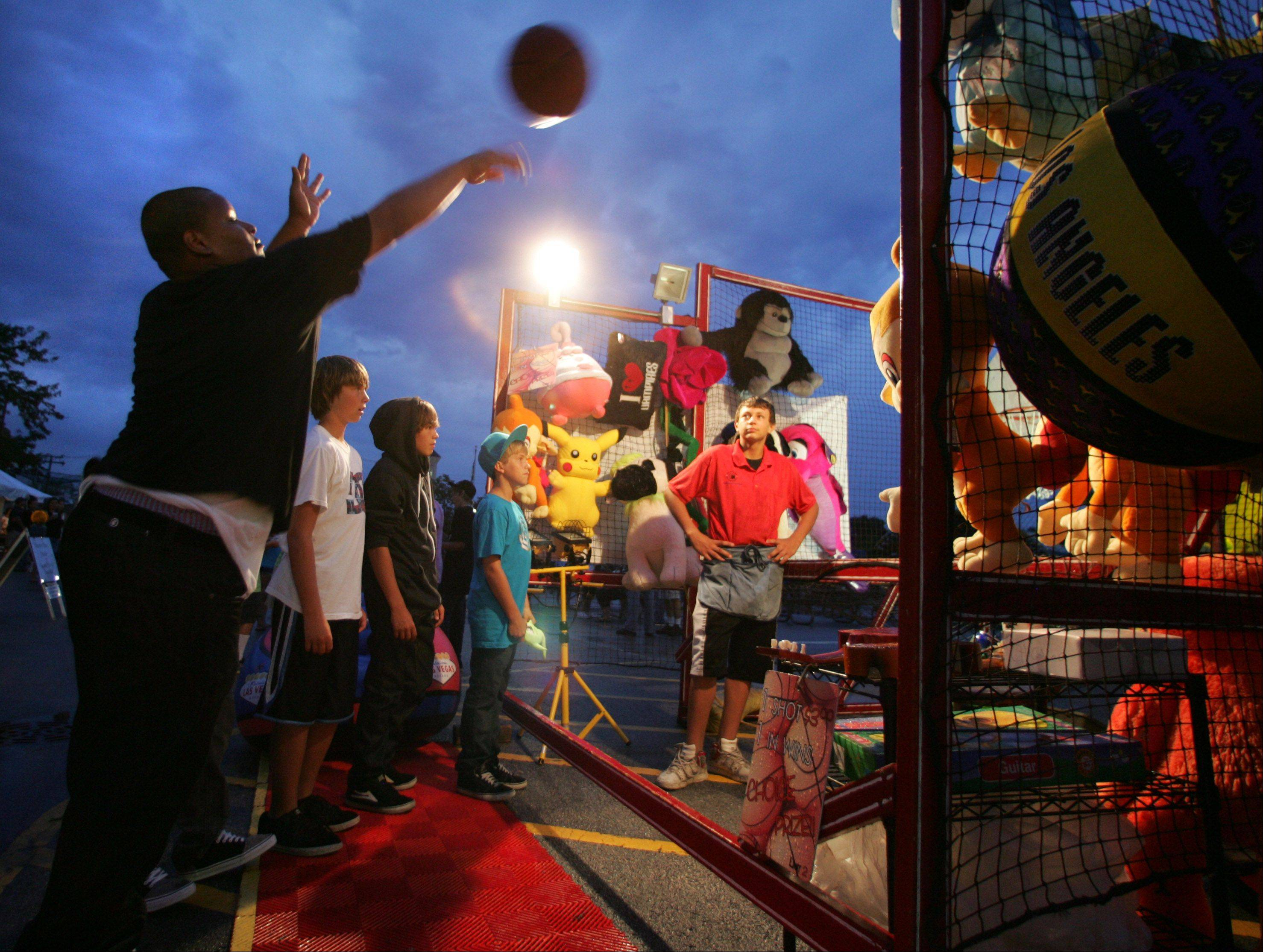 Grayslake Summer Days offers something for everyone, such as a basketball booth. The festival returns Friday and Saturday in downtown Grayslake.