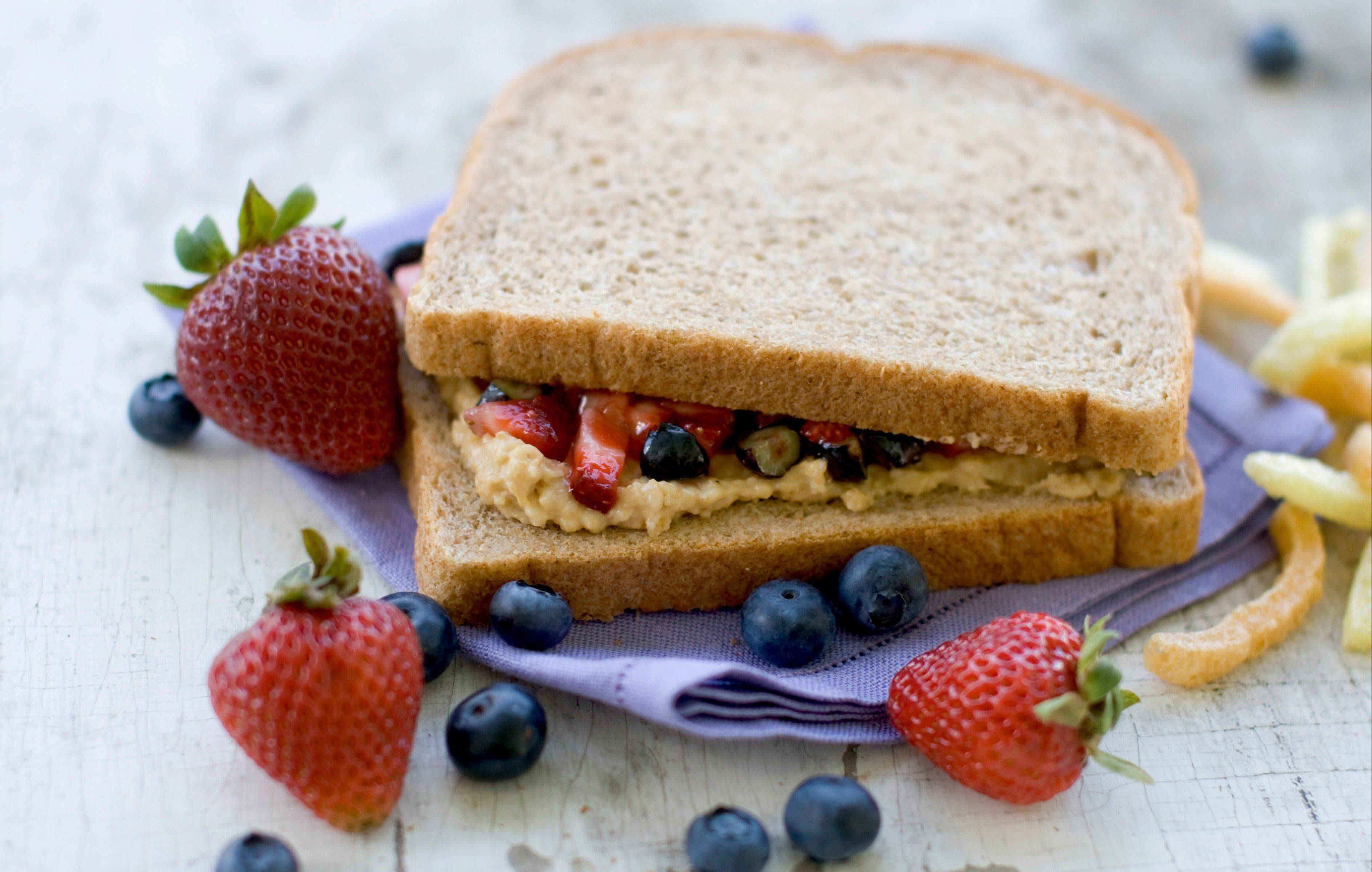 A healthier PB&J sandwich starts with whole grain bread.