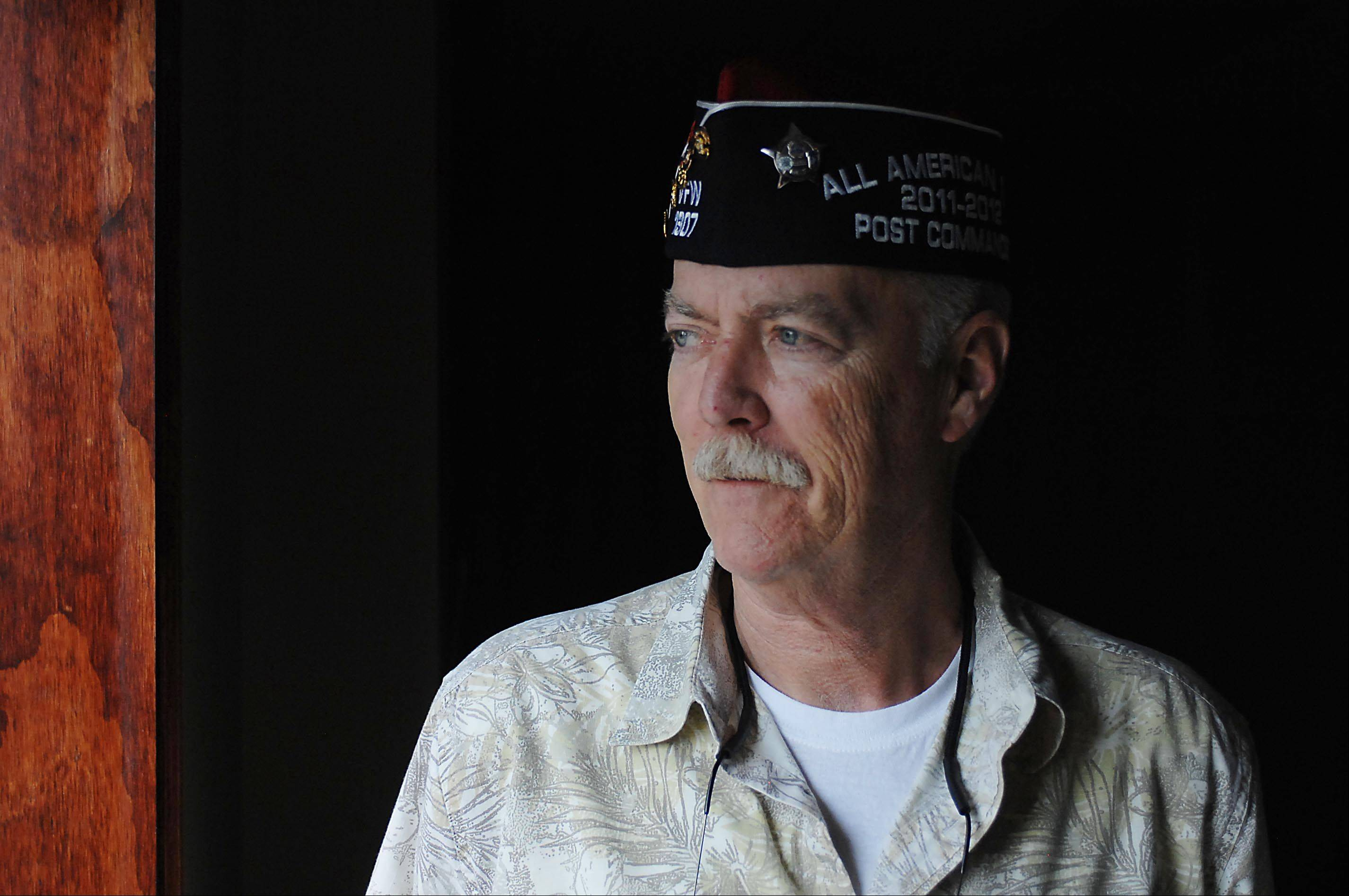 Doc Sheehan of the Elgin VFW Post 1307 was named August's veteran of the month by the Illinois Department of Veterans' Affairs. He attributes the honor to a great team working beside him while he was commander from 2009-2012.