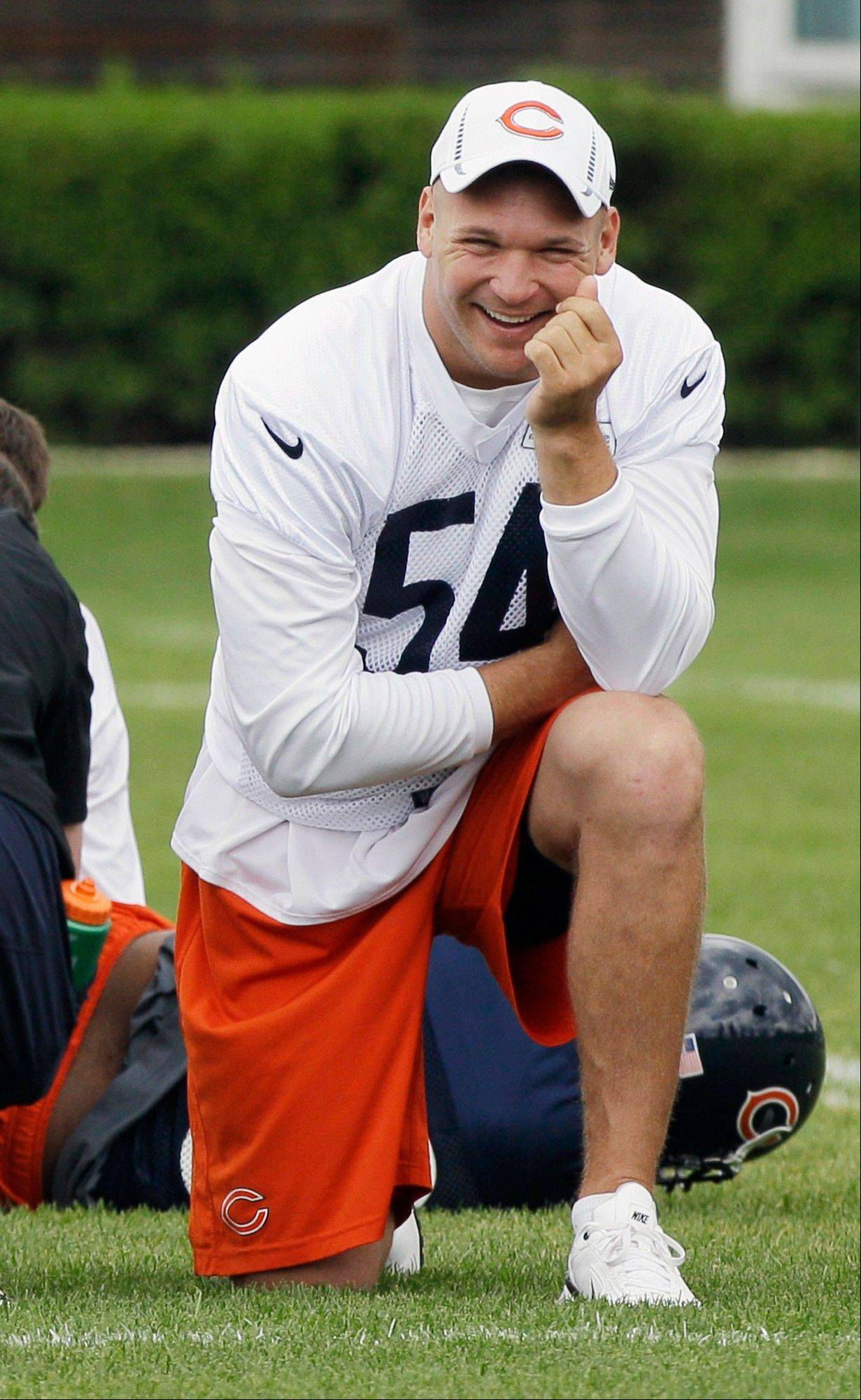 Urlacher not worried about making Sept. 9 return