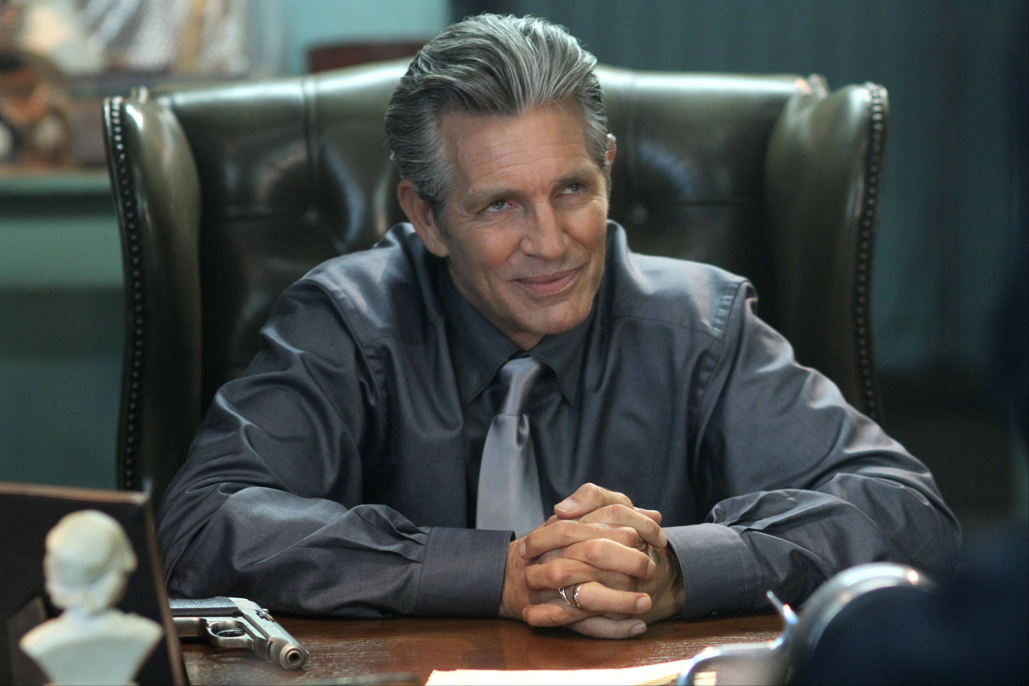 "Eric Roberts plays crime lord Mr. Racken in IFC's new action comedy ""Bullet In The Face."""