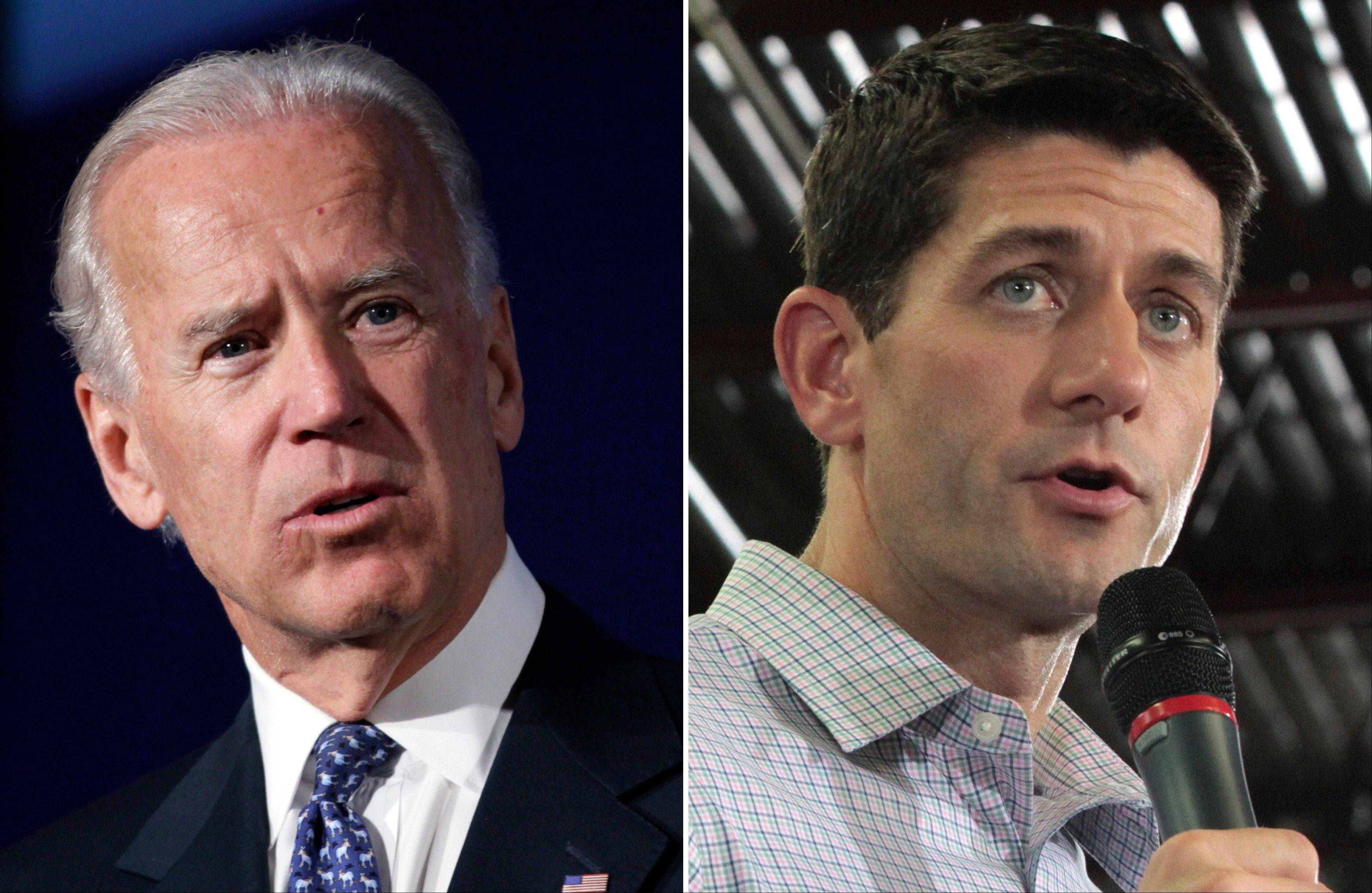 This combo made from file photos shows Vice President Joe Biden, left, and Republican vice presidential nominee Paul Ryan. In some ways, these presidential ticket No. 2s could not be more different. But in other ways, the 42-year-old Republican congressman and 69-year-old Democratic vice president are very much alike.