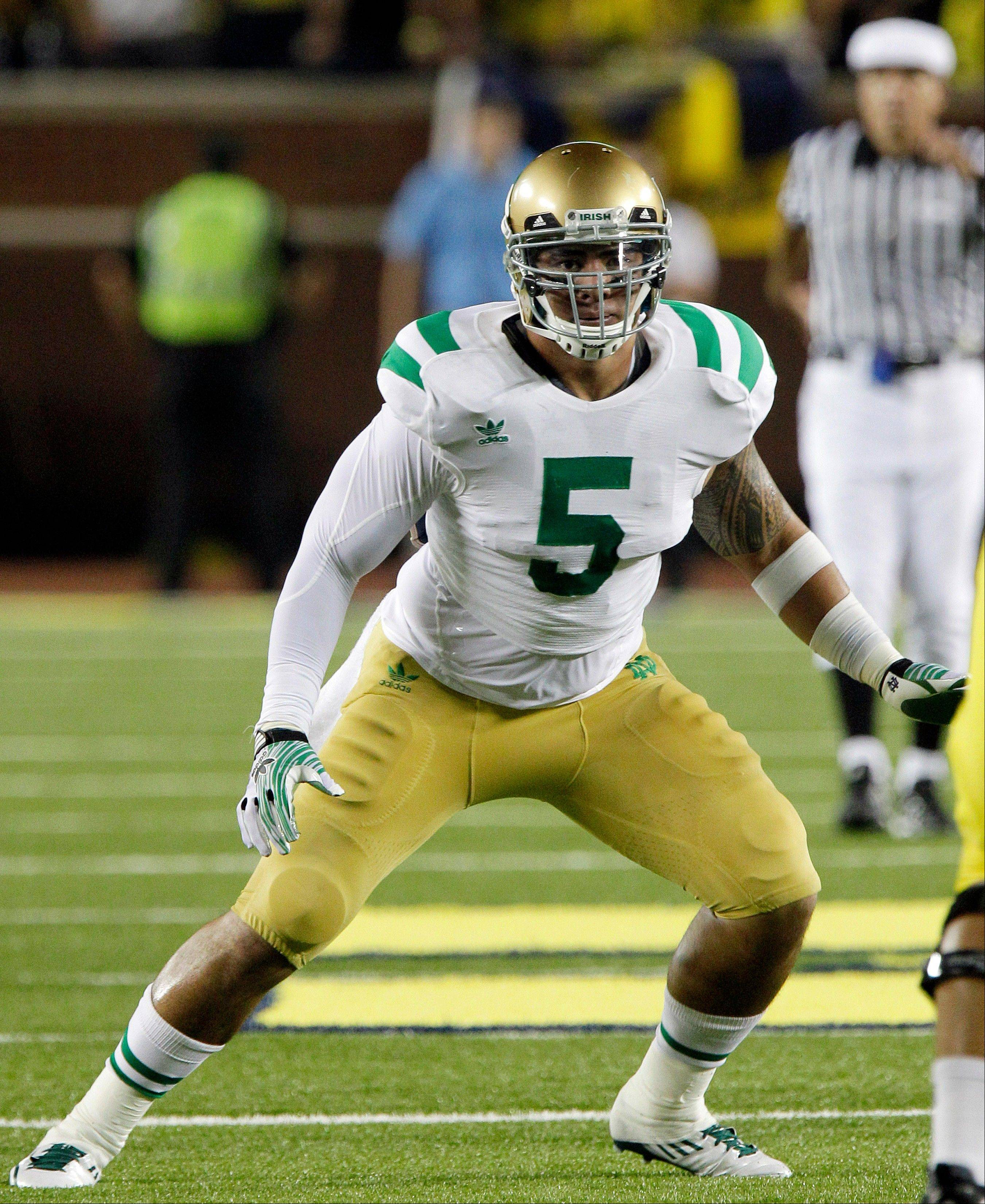 Notre Dame linebacker Manti Te'o enters the season as the No. 8 tackler in school history with 324. He made 128 last season and 133 as a sophomore, combining speed, instinct and a determined approach to keep improving.
