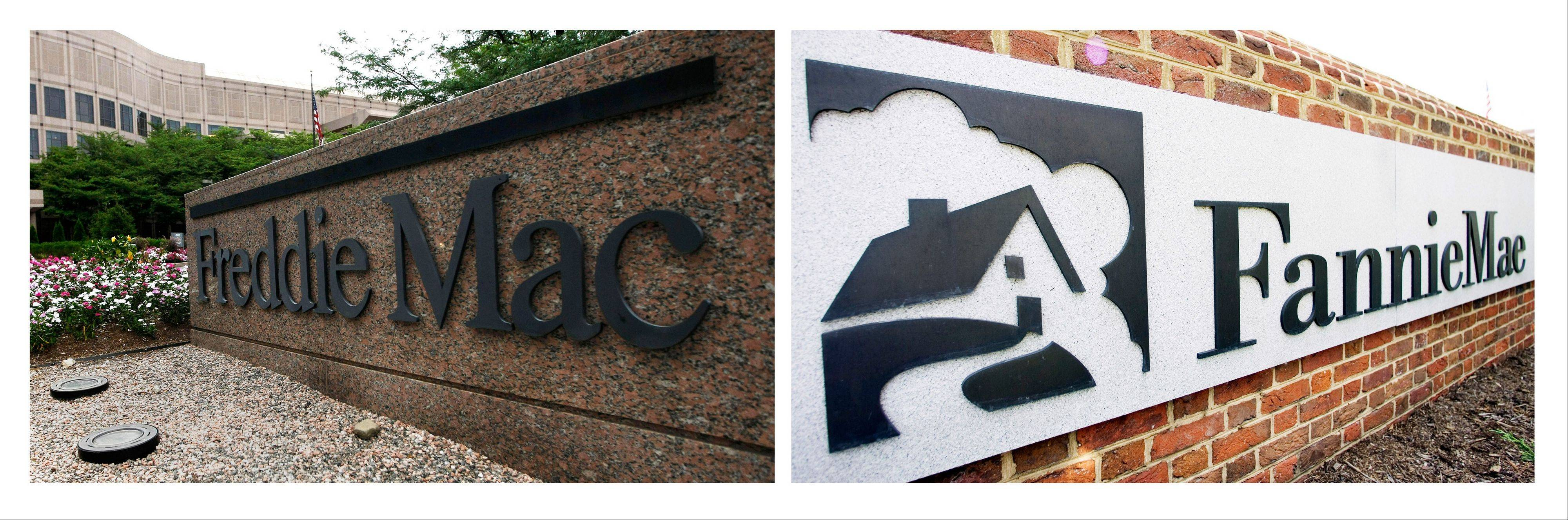 The government is changing the terms of its bailout agreement with Fannie Mae and Freddie Mac in a way that will shrink the holdings of the two mortgage giants more quickly and will require payment to the government of all quarterly profits the companies earn.