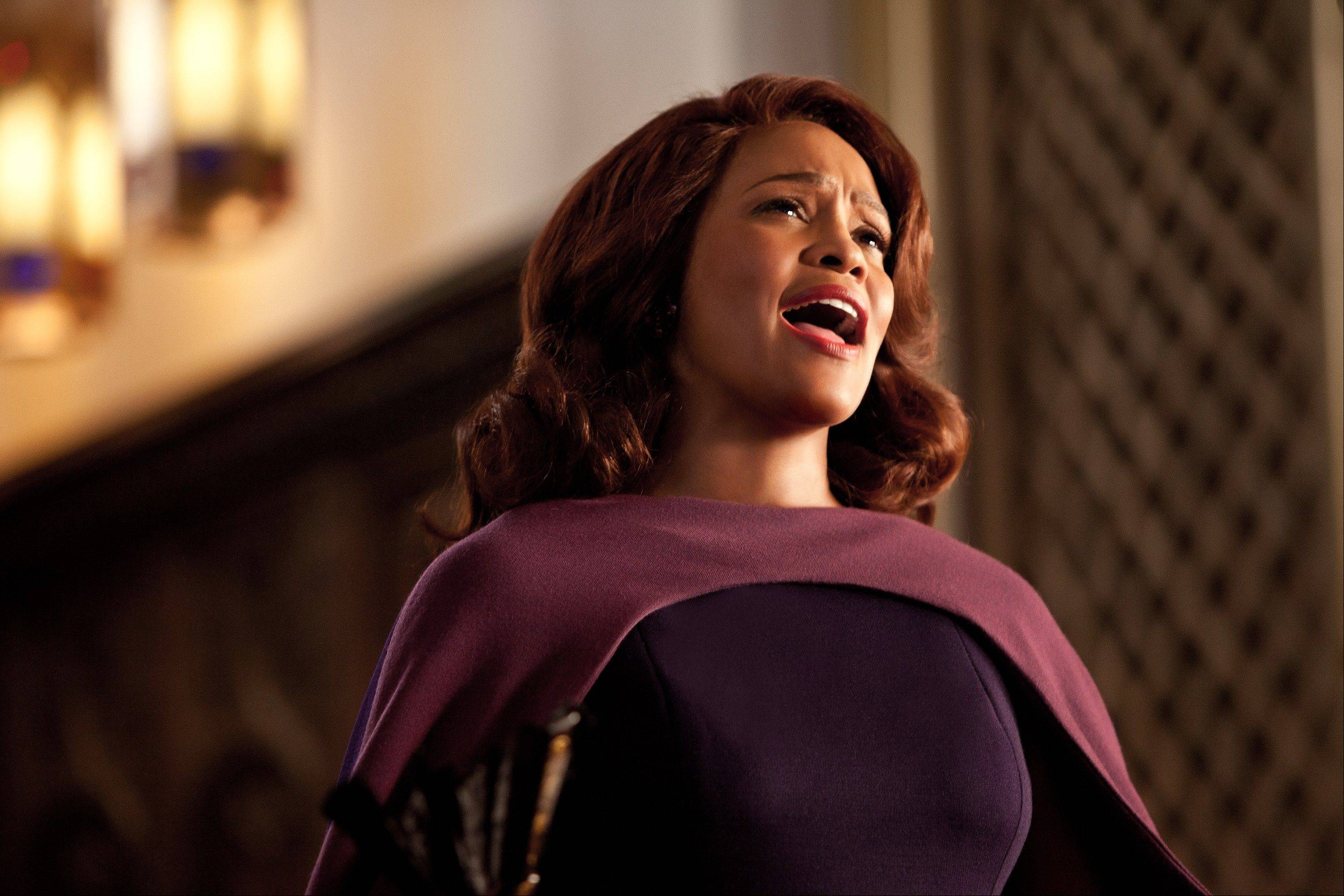 "The late singer/actress Whitney Houston plays a mother in the musical remake of ""Sparkle."""