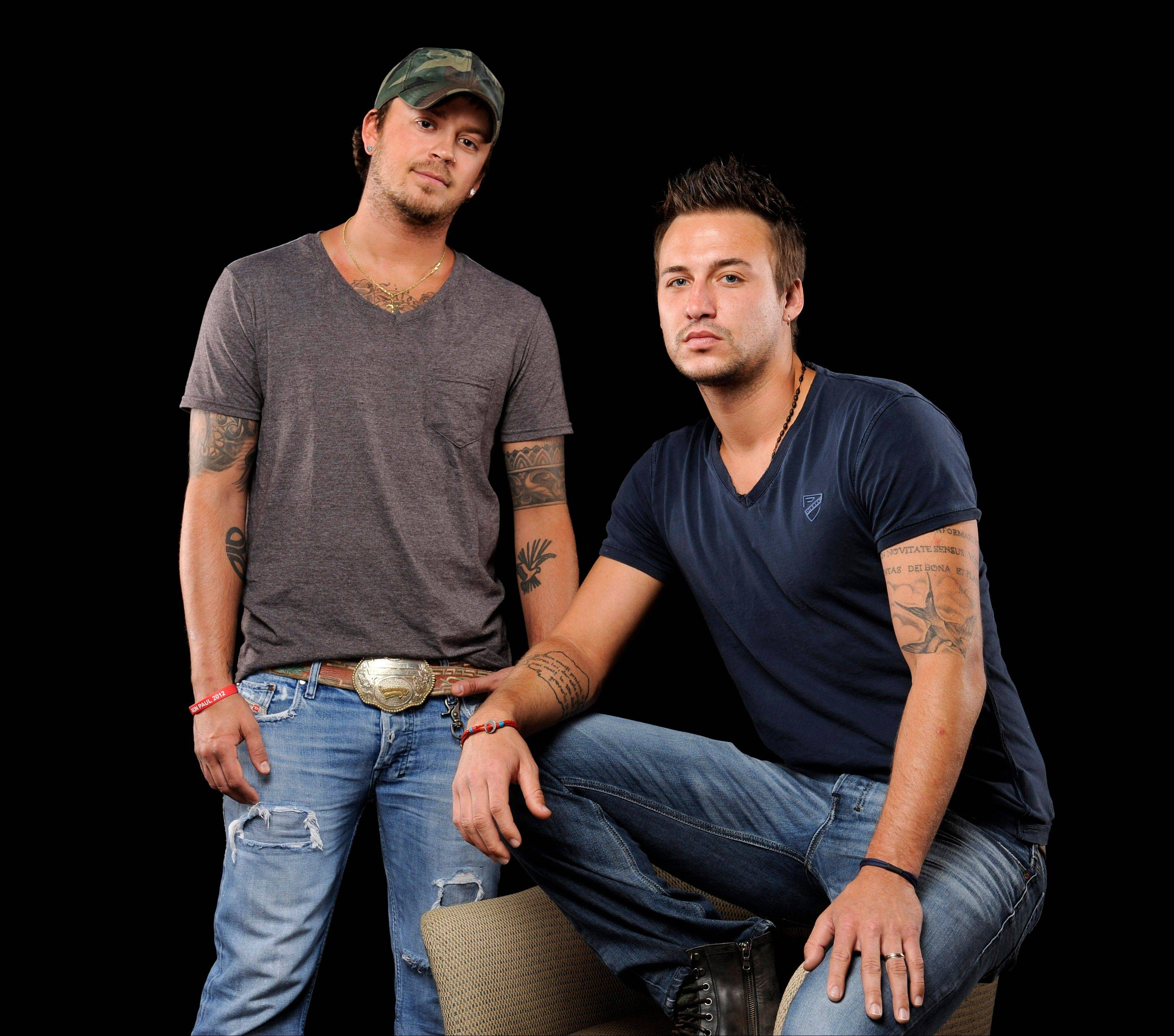 The self-titled second album for country music duo Love and Theft — Stephen Barker Liles, left, and Eric Gunderson — came out last month.