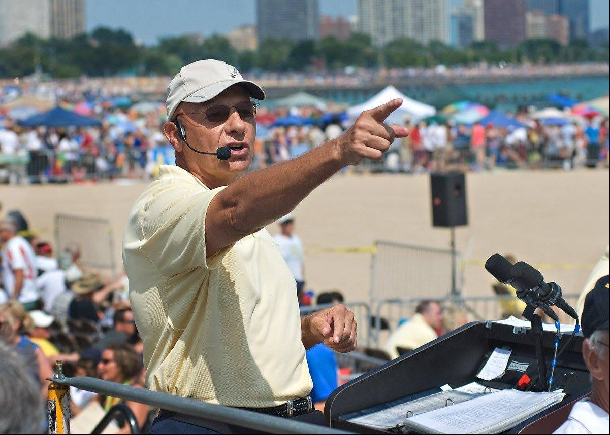 Herb Hunter marks his 25th year as announcer of the Chicago Air & Water Show.