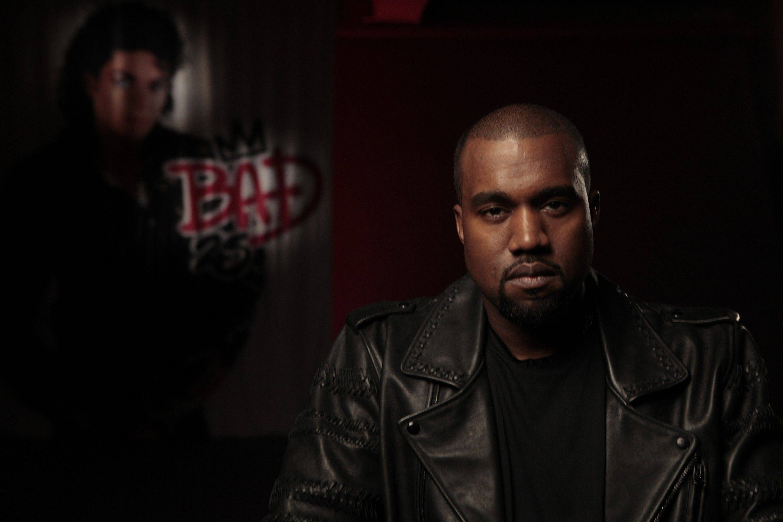 "Kanye West in a scene from the Spike Lee documentary ""Bad 25."""