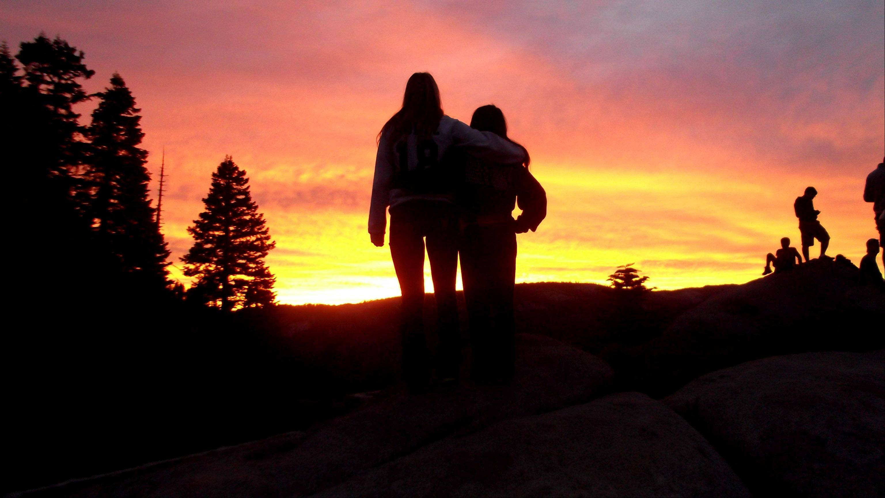 This photo is of my two daughters watching the sunset in Yosemite this year.